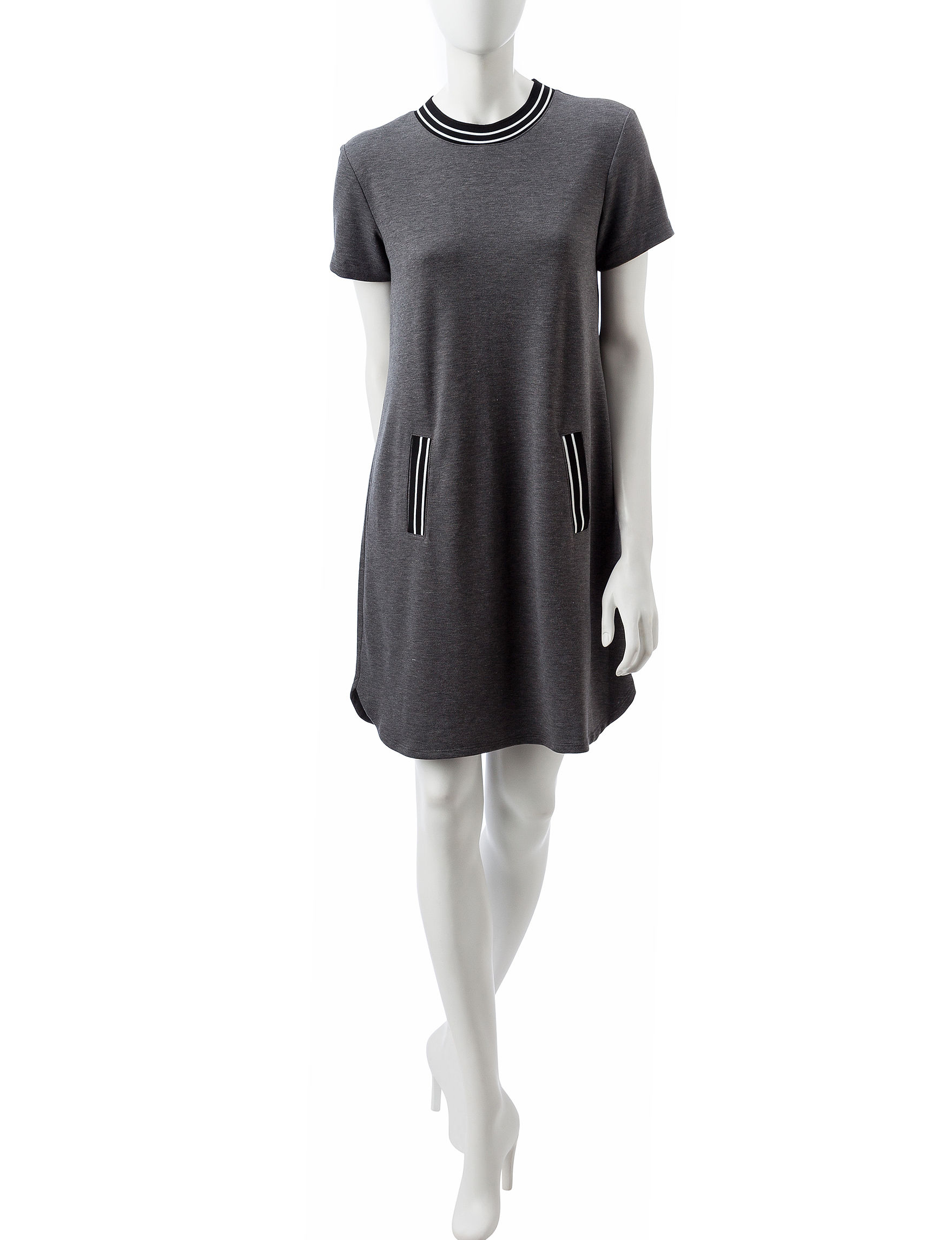 A. Byer Heather Grey Everyday & Casual Shift Dresses