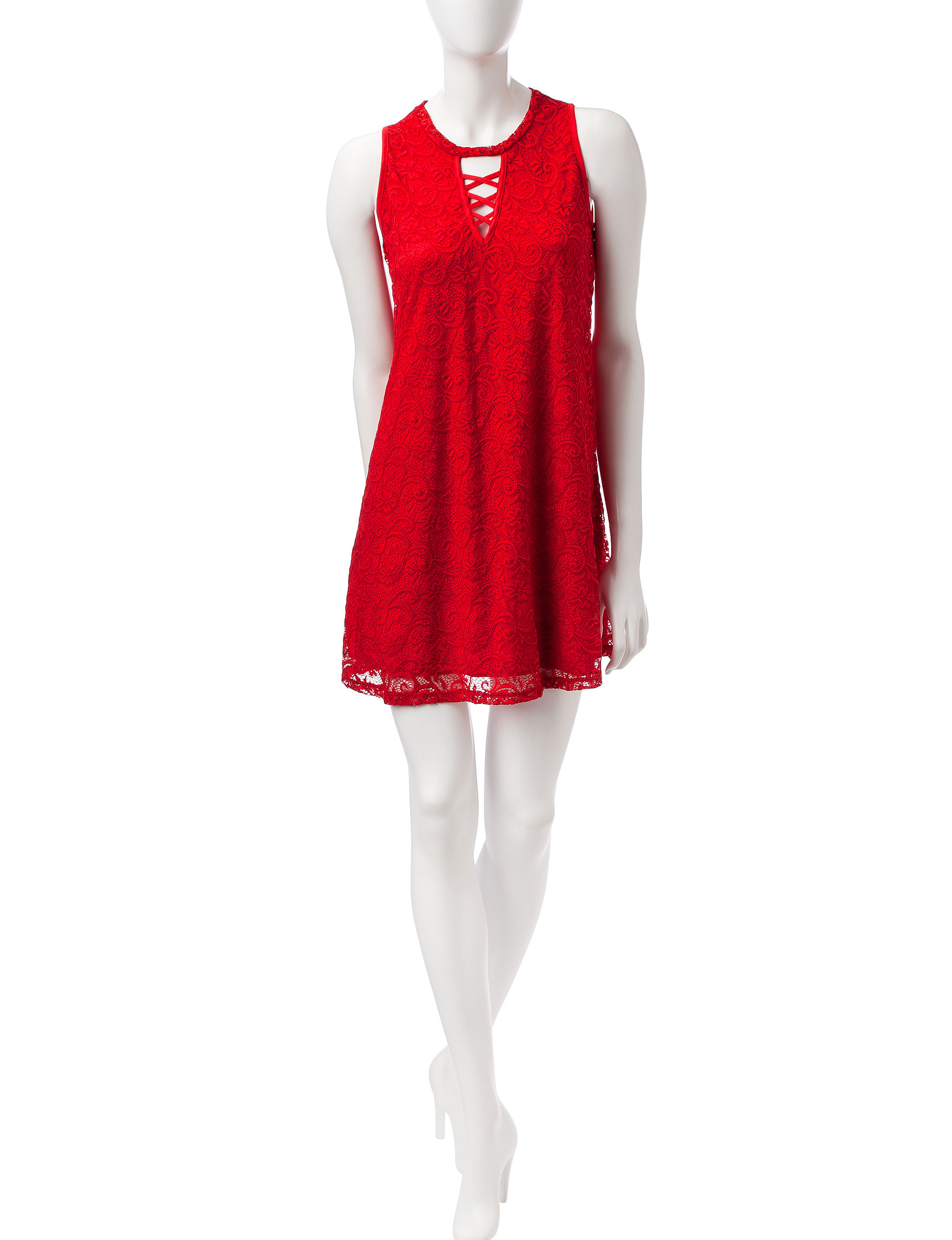 Wishful Park Red Everyday & Casual Shirt Dresses