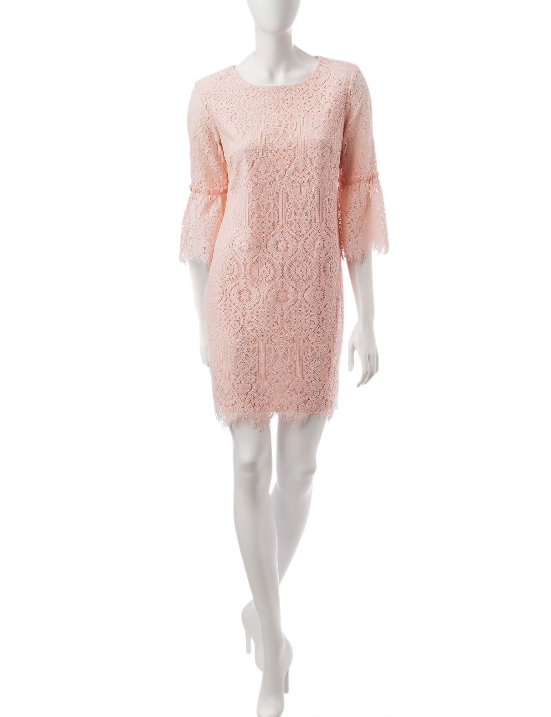 Ronni Nicole Blush Everyday & Casual Shift Dresses