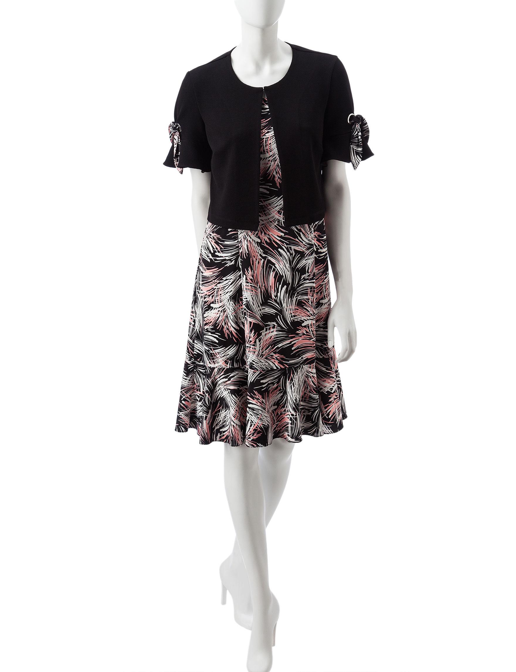 Perceptions Black / Blush Everyday & Casual Jacket Dresses