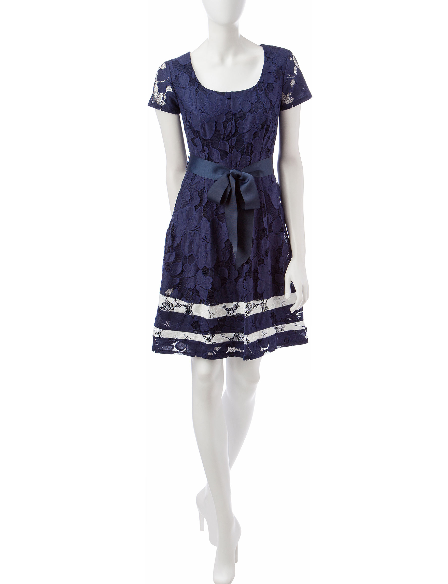 Robbie Bee Navy / White Everyday & Casual A-line Dresses