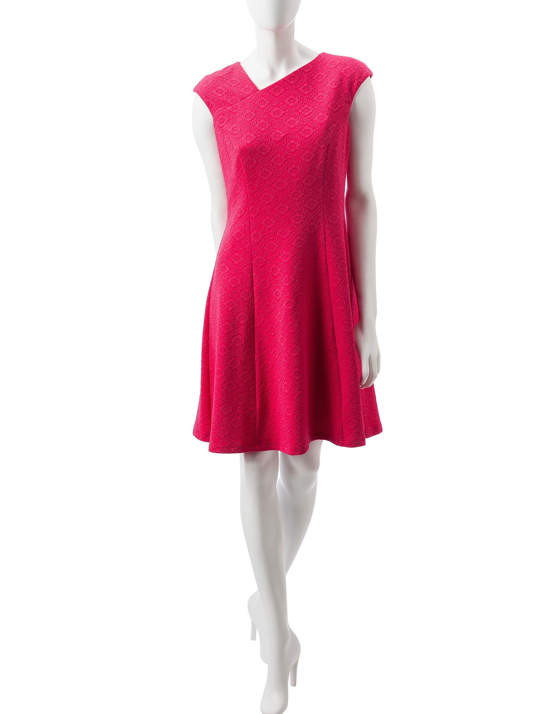 London Times Pink Everyday & Casual A-line Dresses
