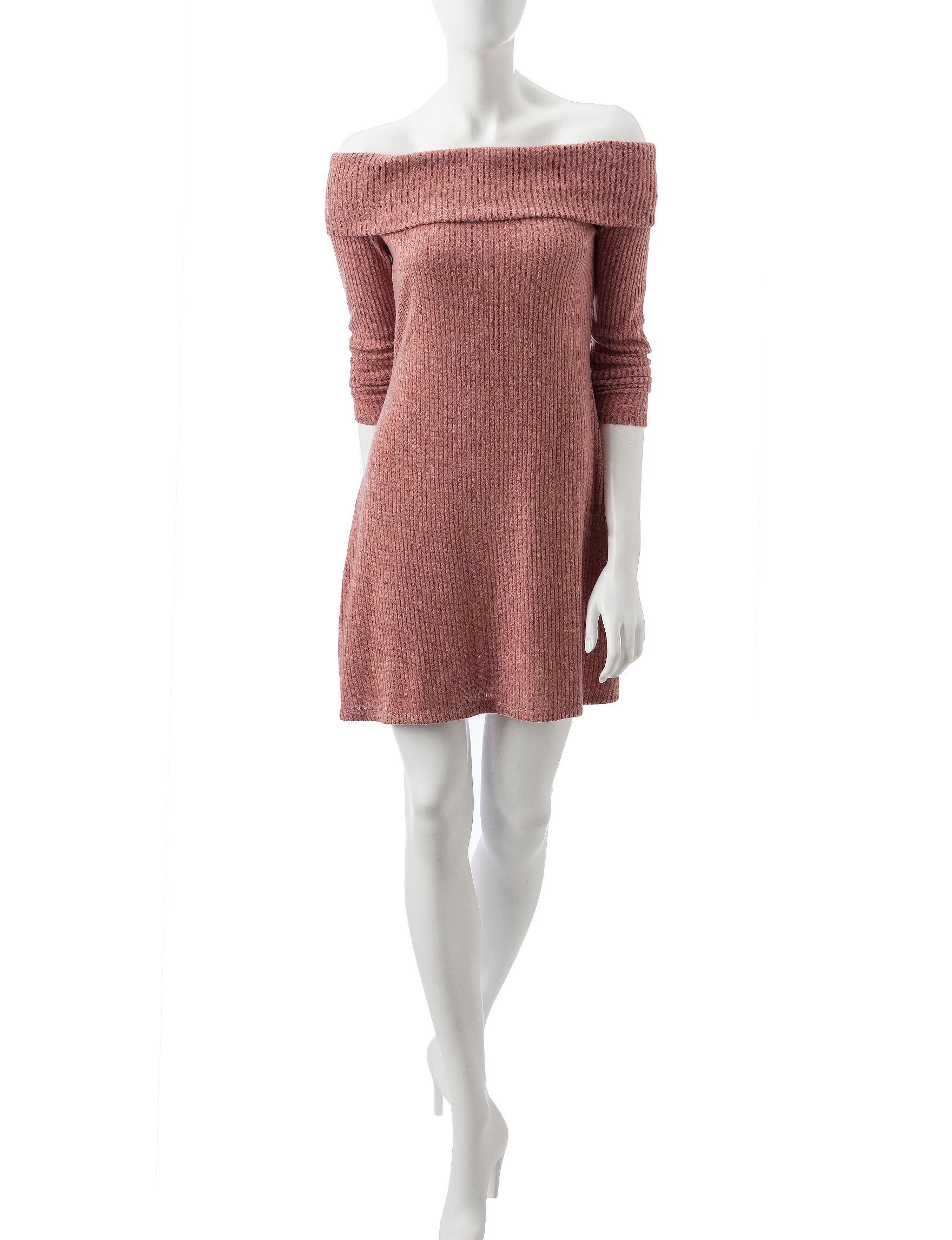 Wishful Park Red Russet Brown Everyday & Casual Shift Dresses