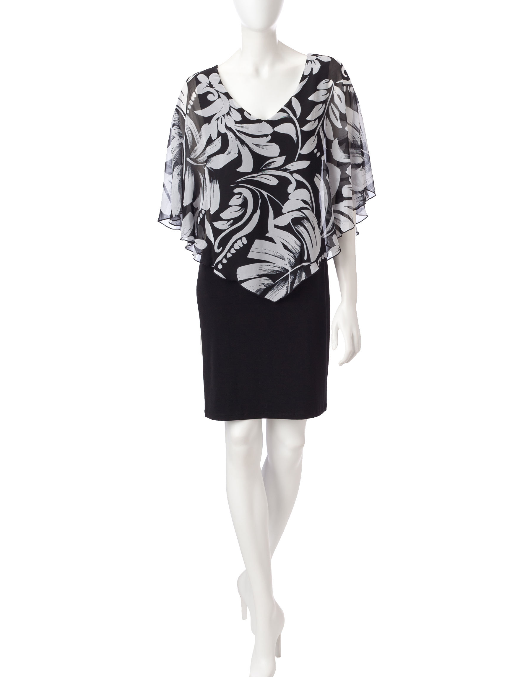 Connected Black /  White Everyday & Casual Jacket Dresses