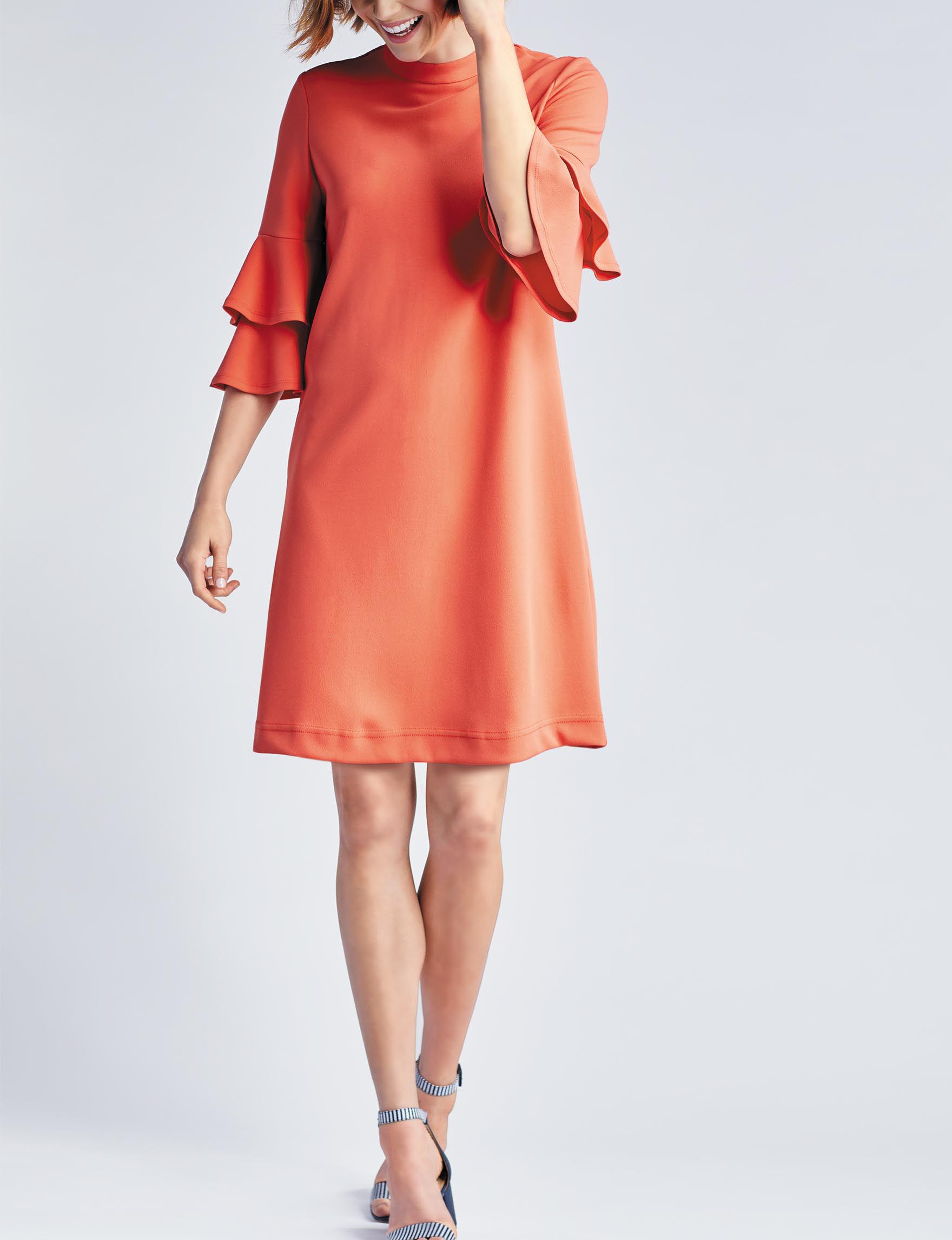 Sharagano Burnt Orange Everyday & Casual Shift Dresses
