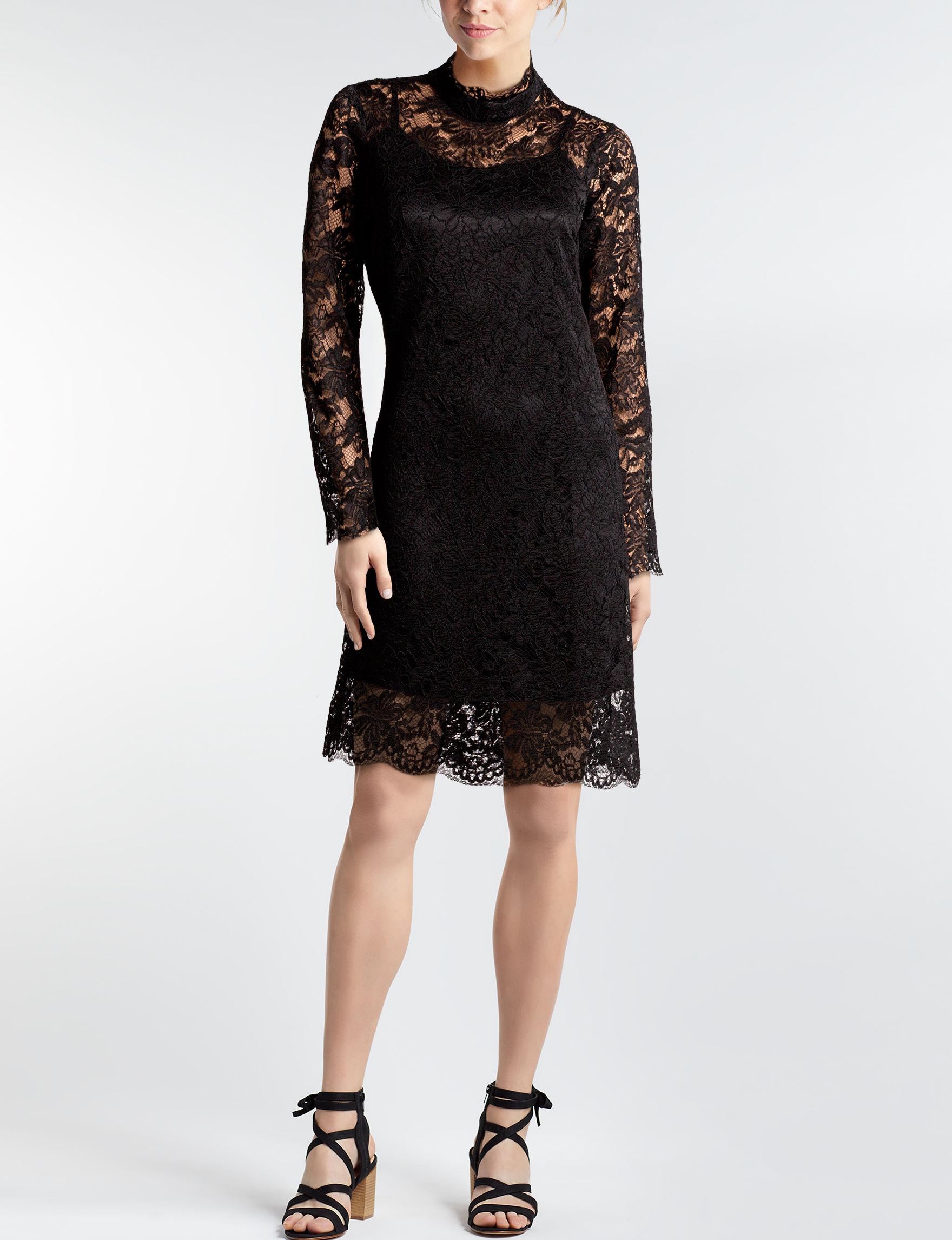 Sharagano Black Everyday & Casual Shift Dresses