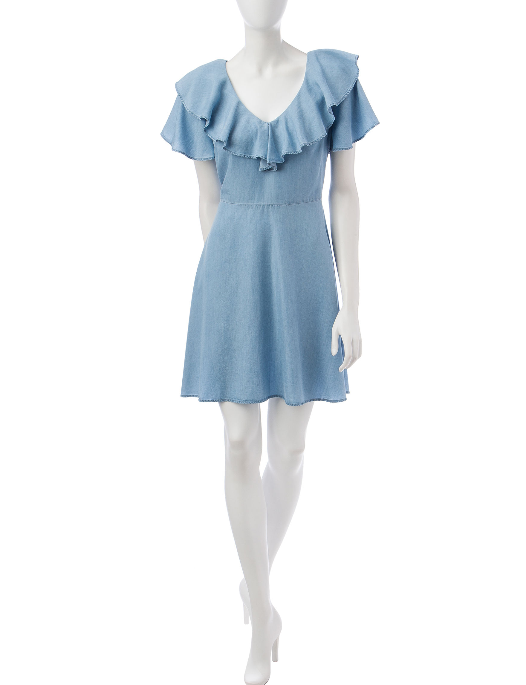 Heart Soul Chambray Everyday & Casual Shift Dresses