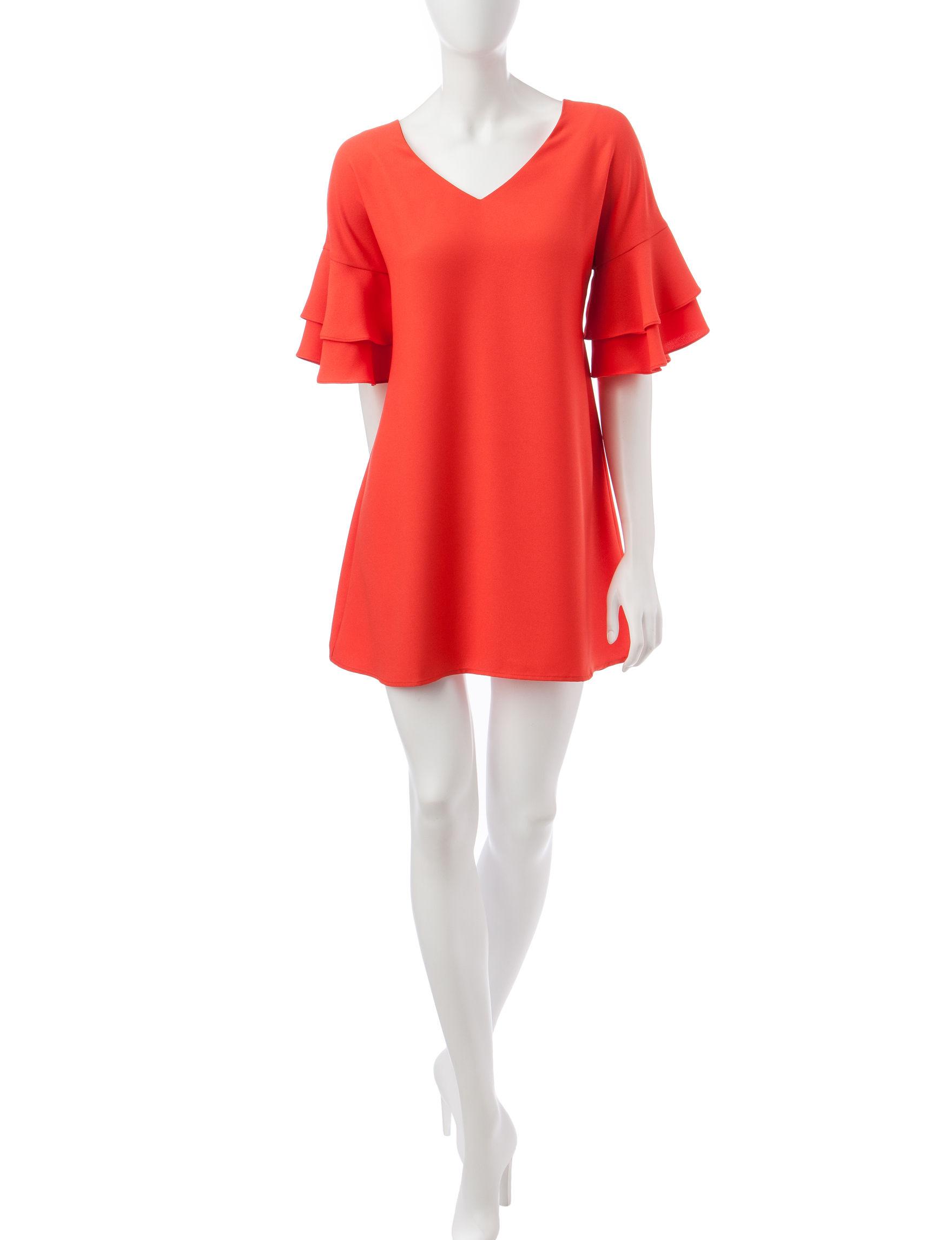 Heart Soul Orange Everyday & Casual Shift Dresses