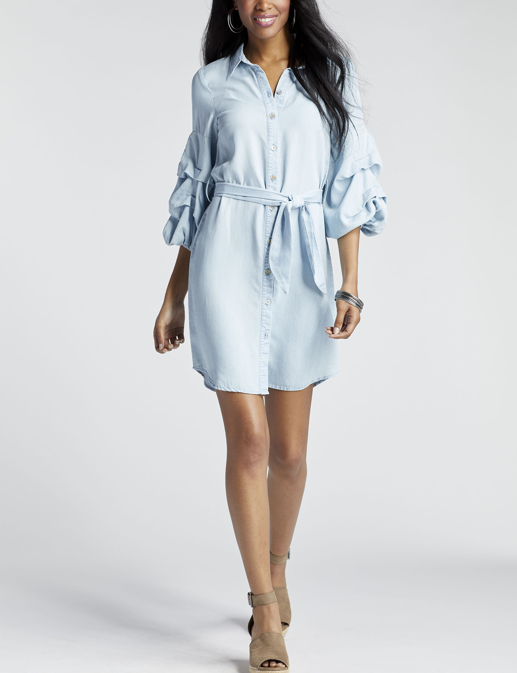 Spense Blue Everyday & Casual Shirt Dresses