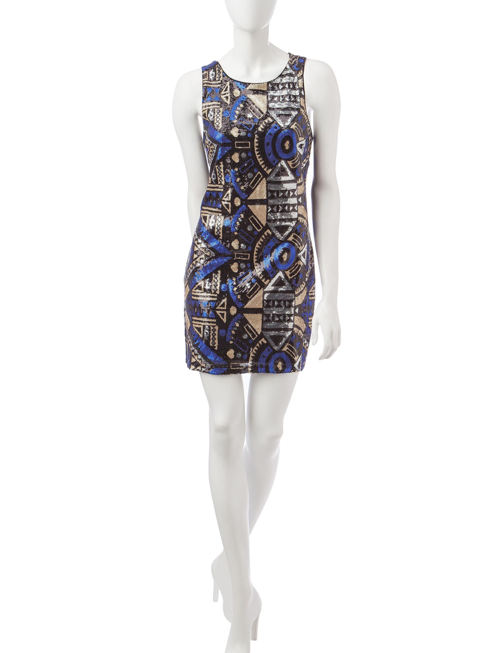 Romeo + Juliet Couture Black Multi Cocktail & Party Sheath Dresses