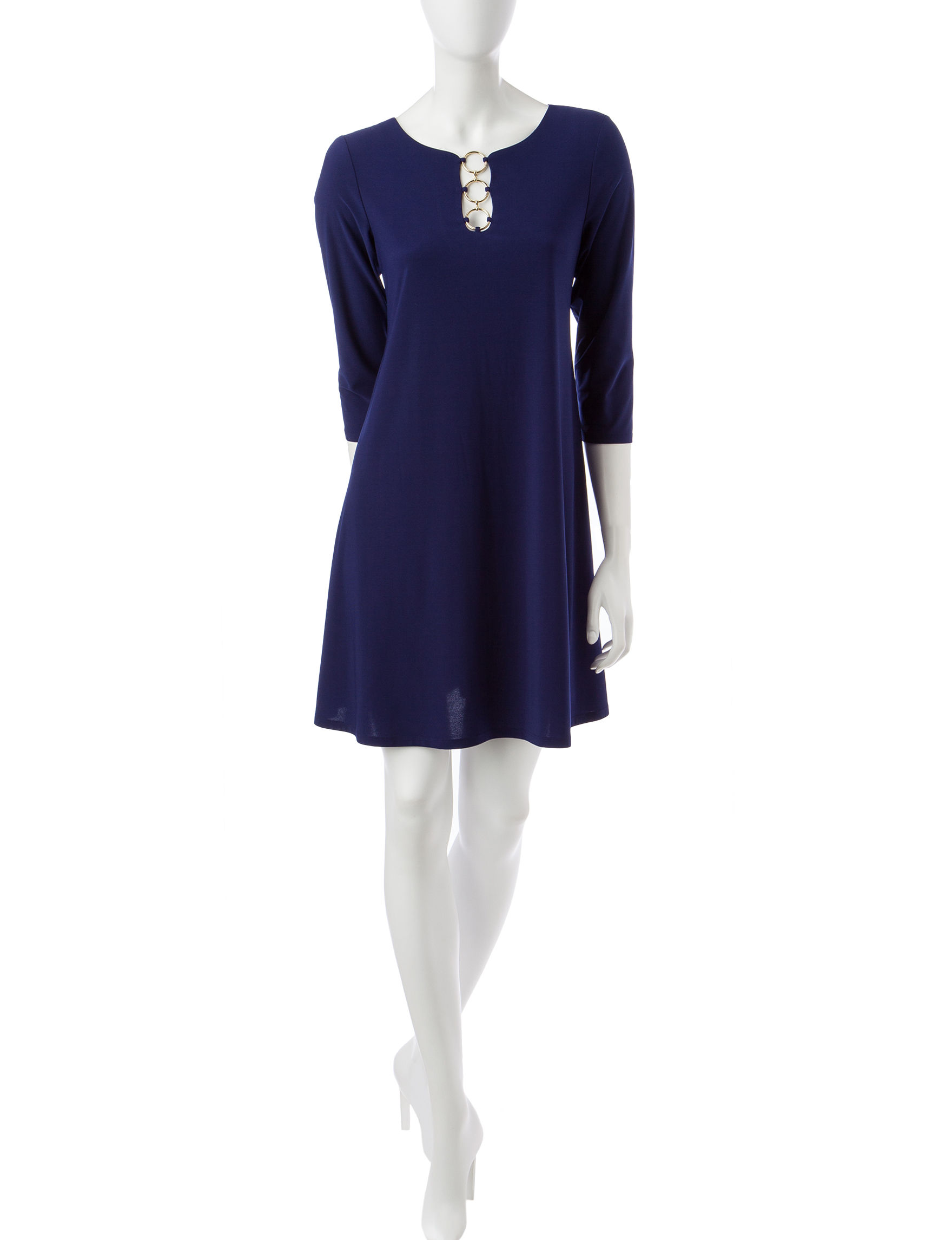 MSK Navy Everyday & Casual Shift Dresses