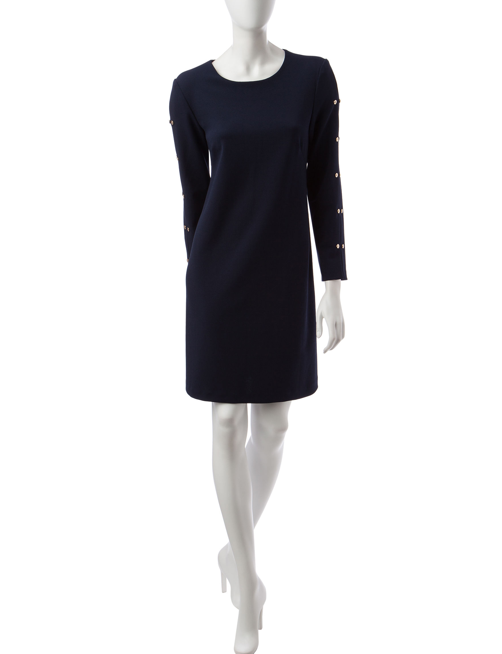 Ronni Nicole Navy Everyday & Casual Shift Dresses