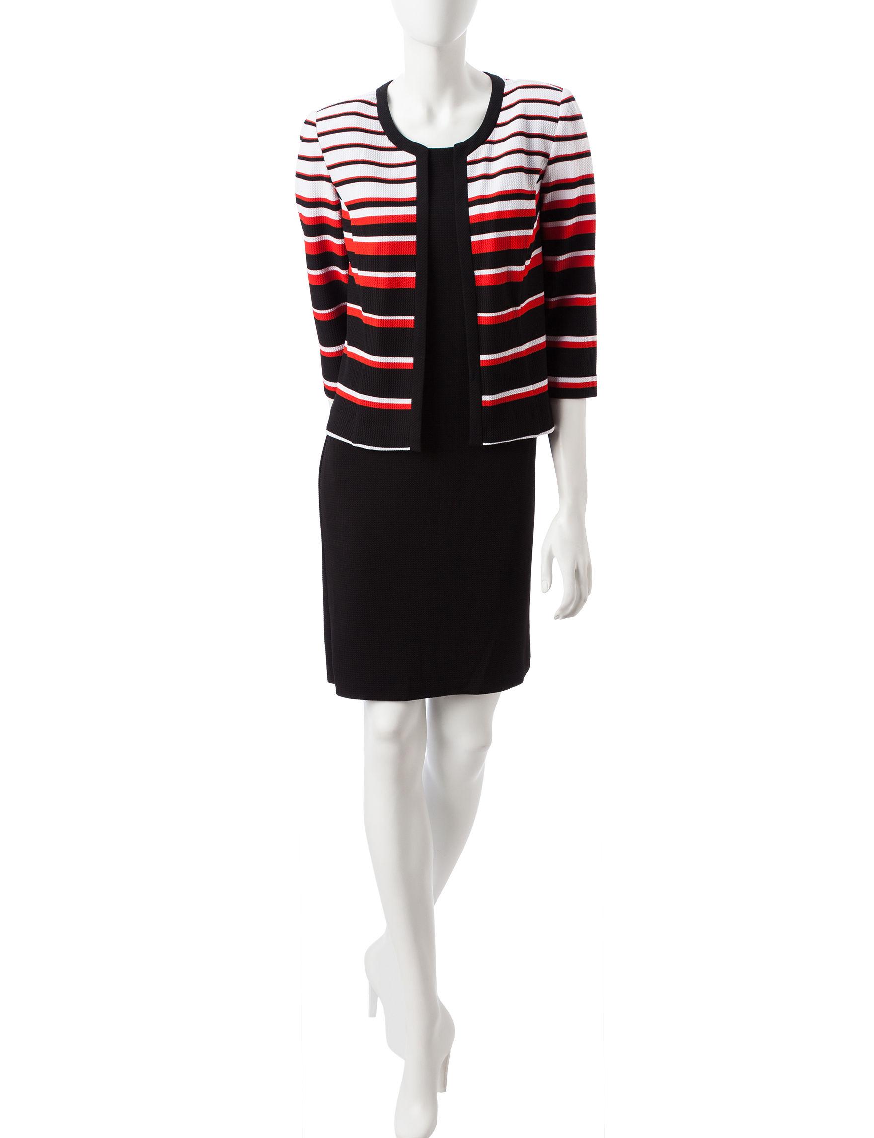 Studio One Black Multi Everyday & Casual Jacket Dresses