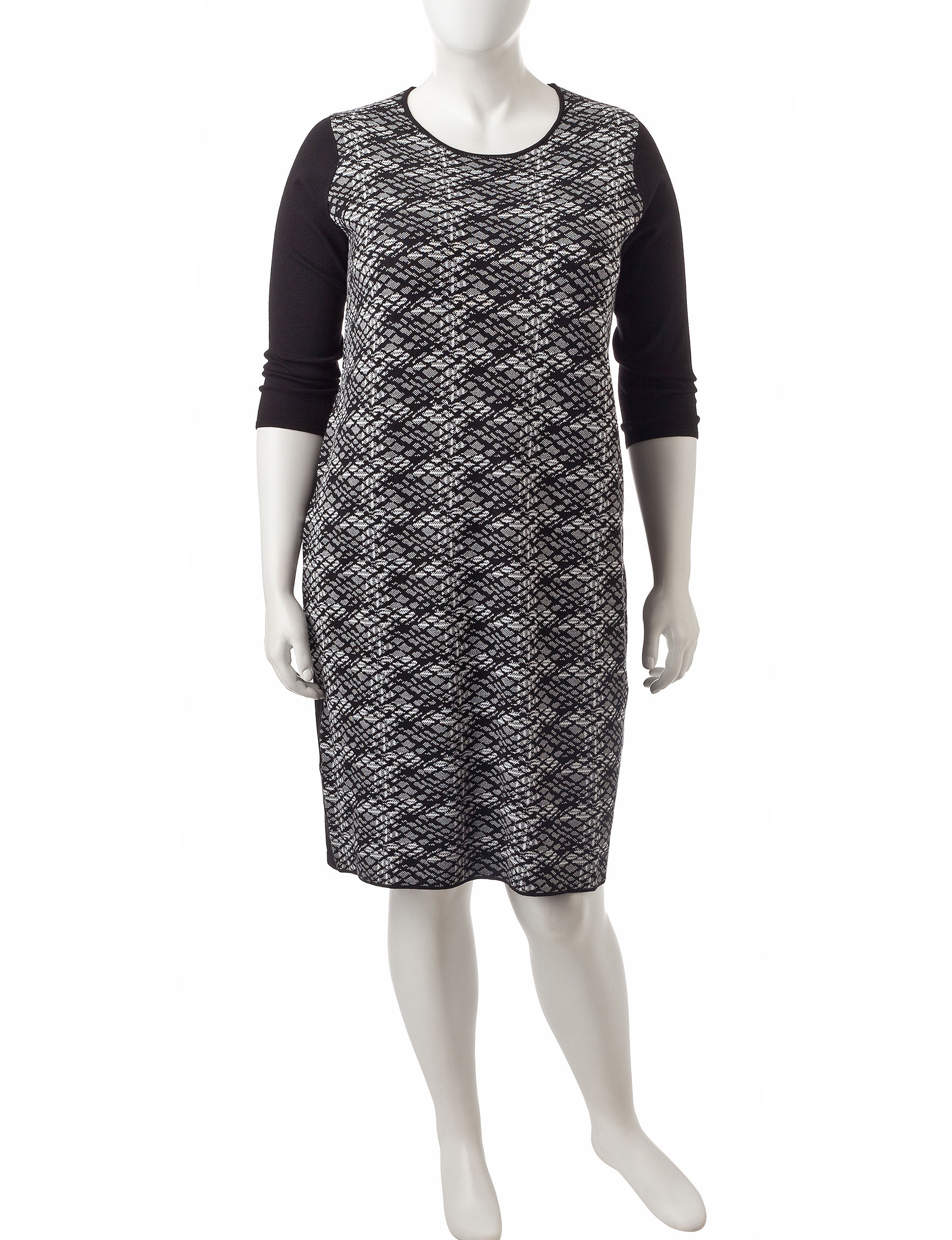 Connected Black /  White Everyday & Casual Sheath Dresses