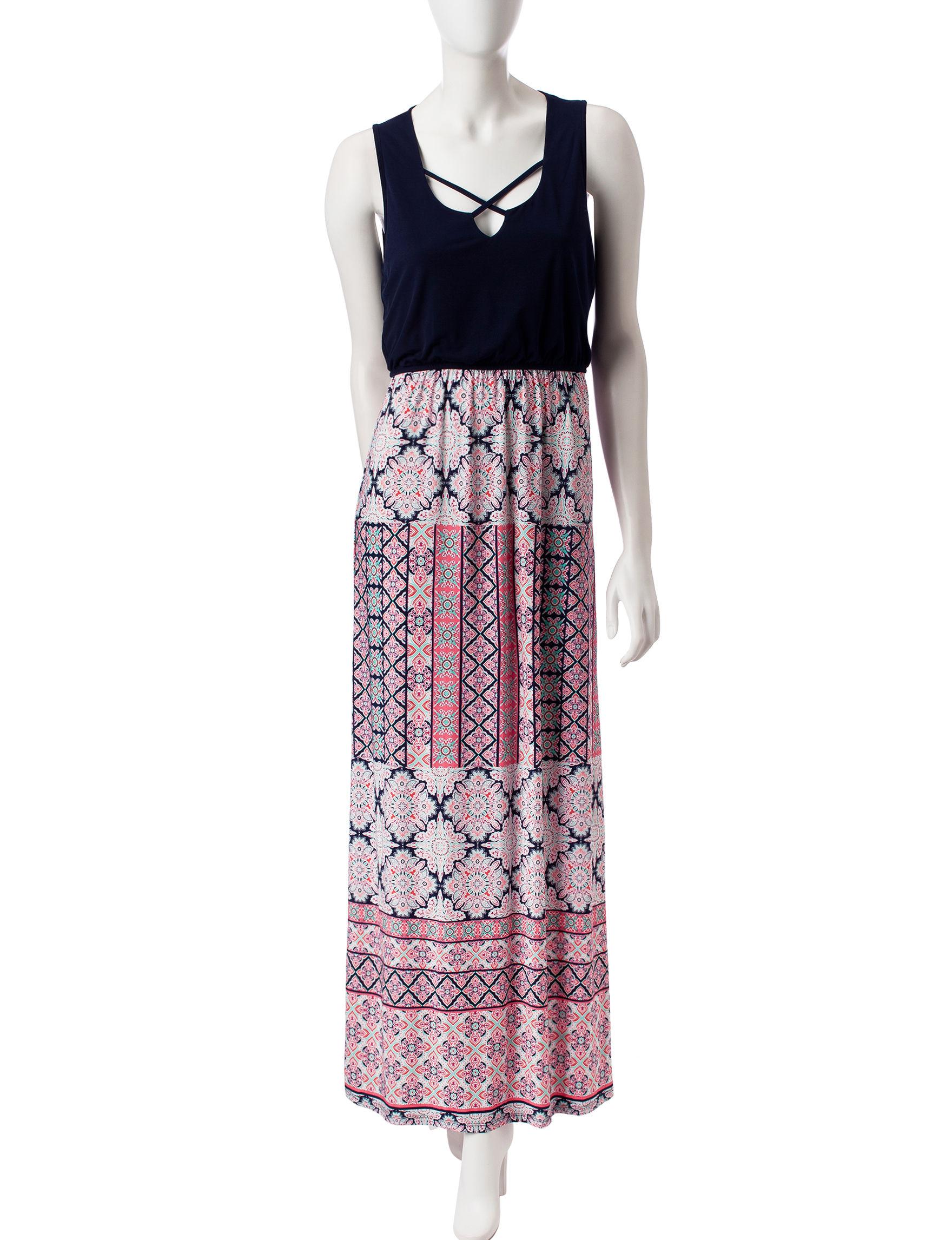 Trixxi Black / Fuschia Everyday & Casual Shift Dresses Sundresses
