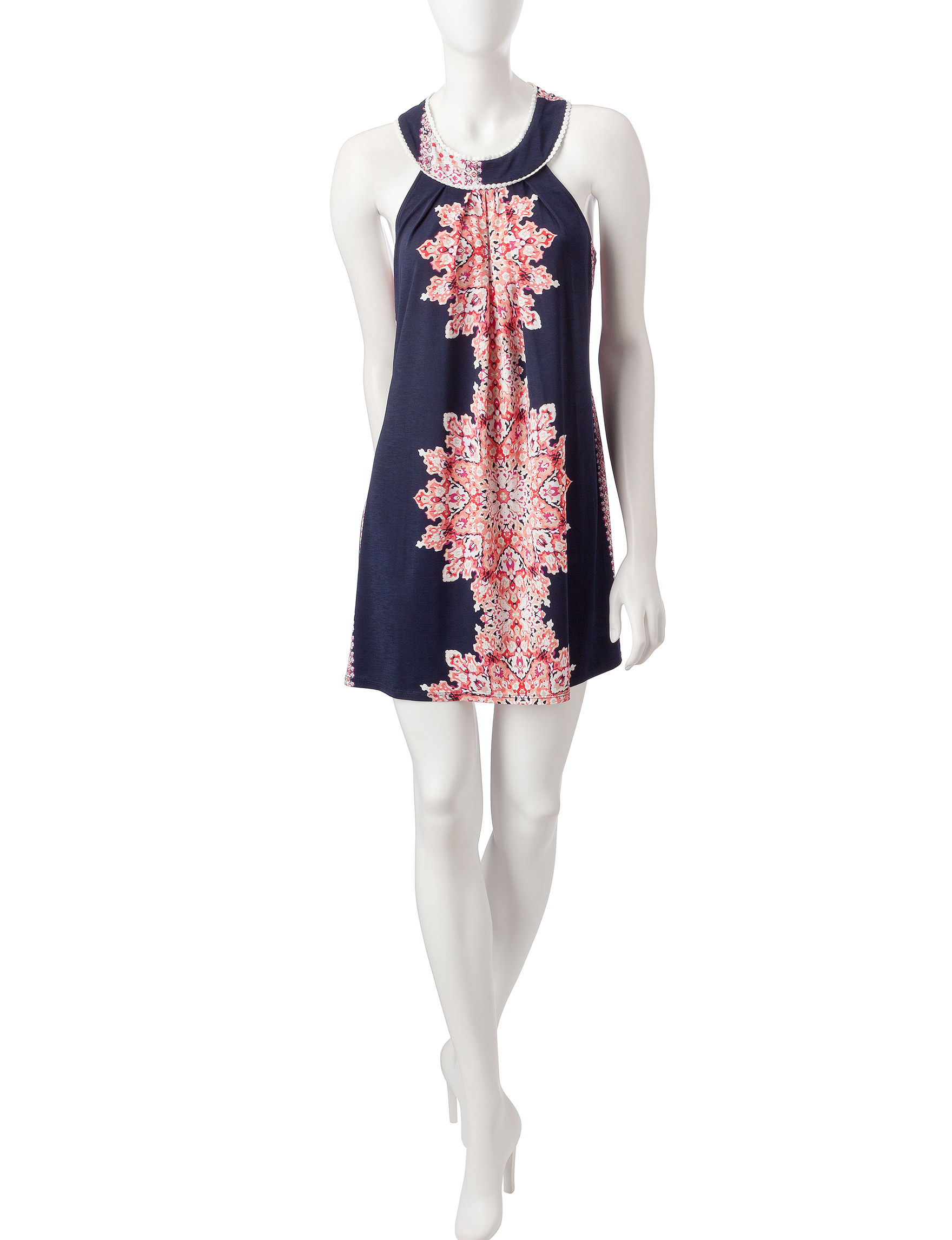 Trixxi Navy / Coral Everyday & Casual Sundresses
