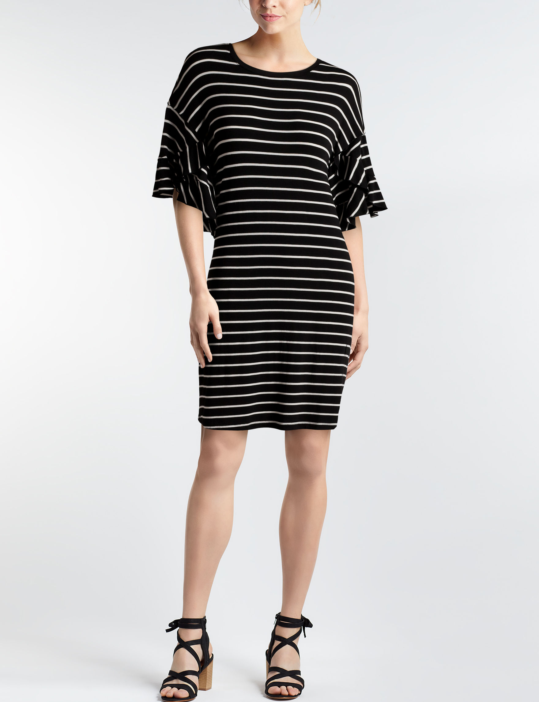 Signature Studio Black / White Everyday & Casual Shift Dresses