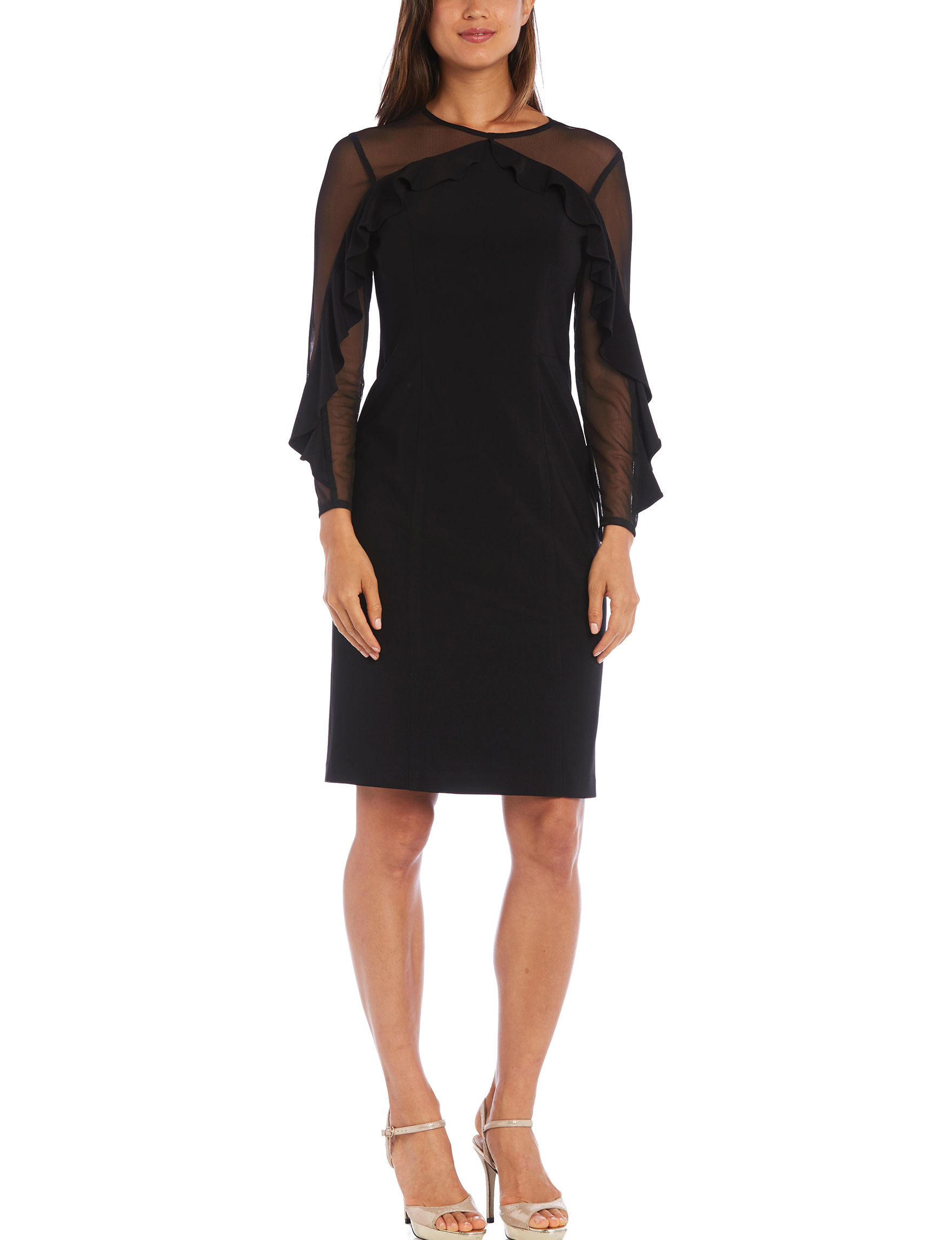 R & M Richards Black Cocktail & Party Evening & Formal Shift Dresses