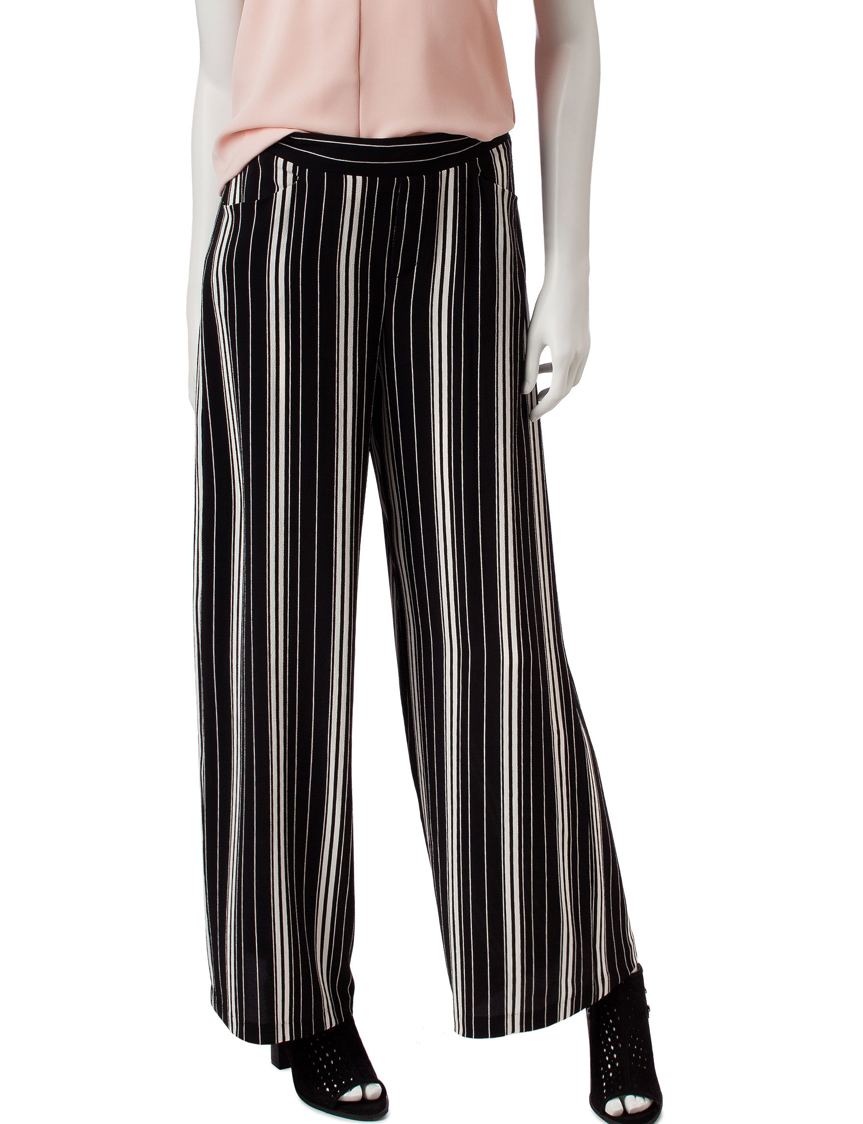 My Michelle Black Stripe Soft Pants