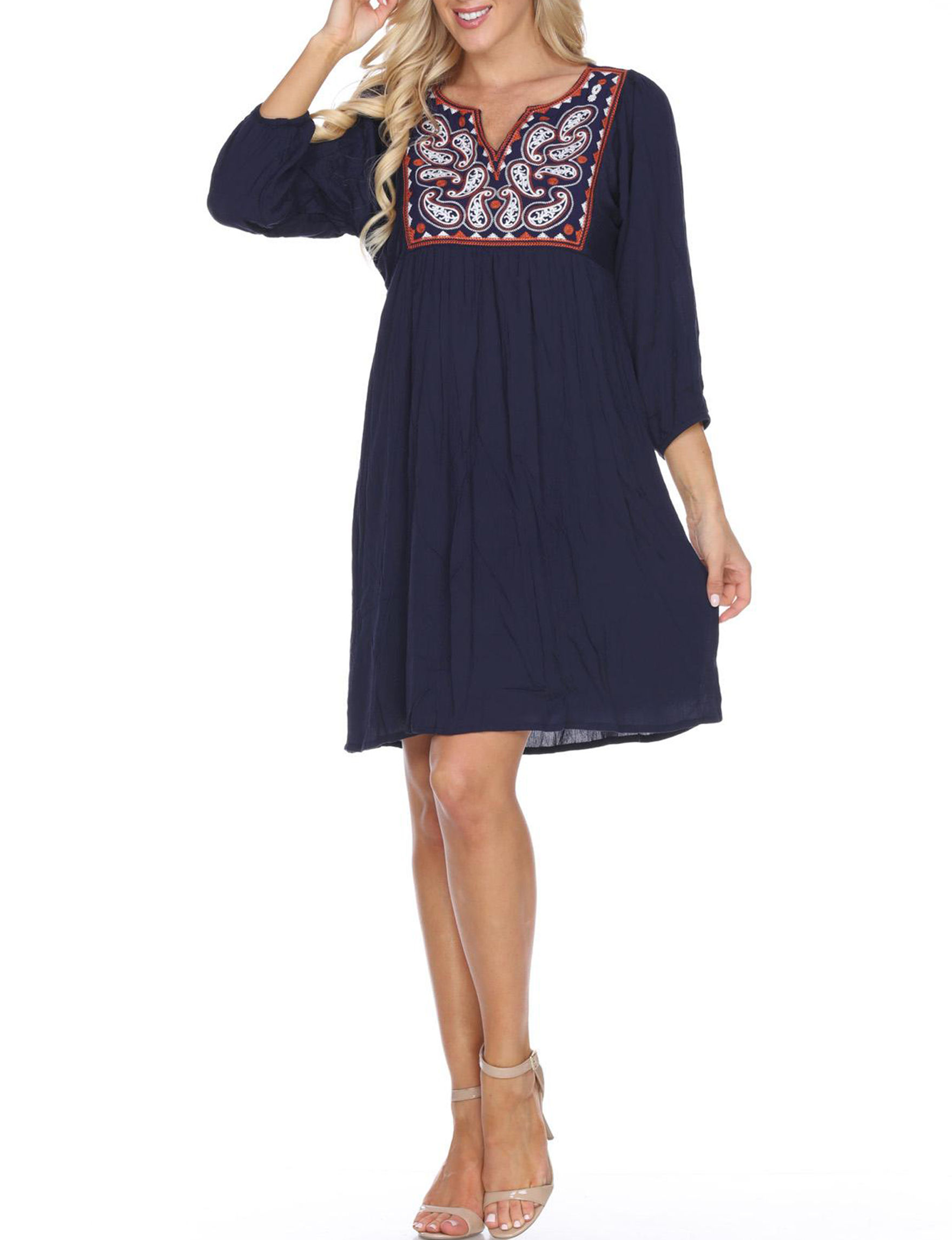 White Mark Navy Cocktail & Party Shift Dresses