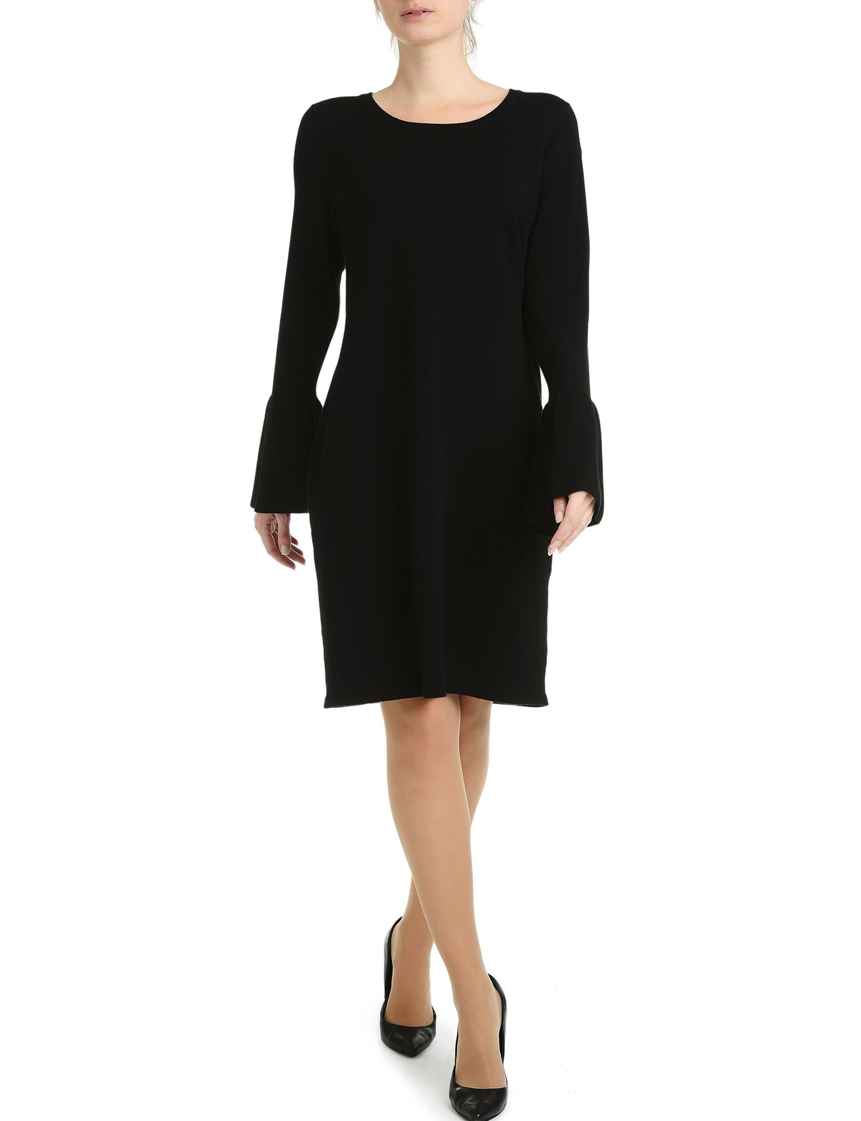 NY Collection Black Cocktail & Party Sweater Dresses