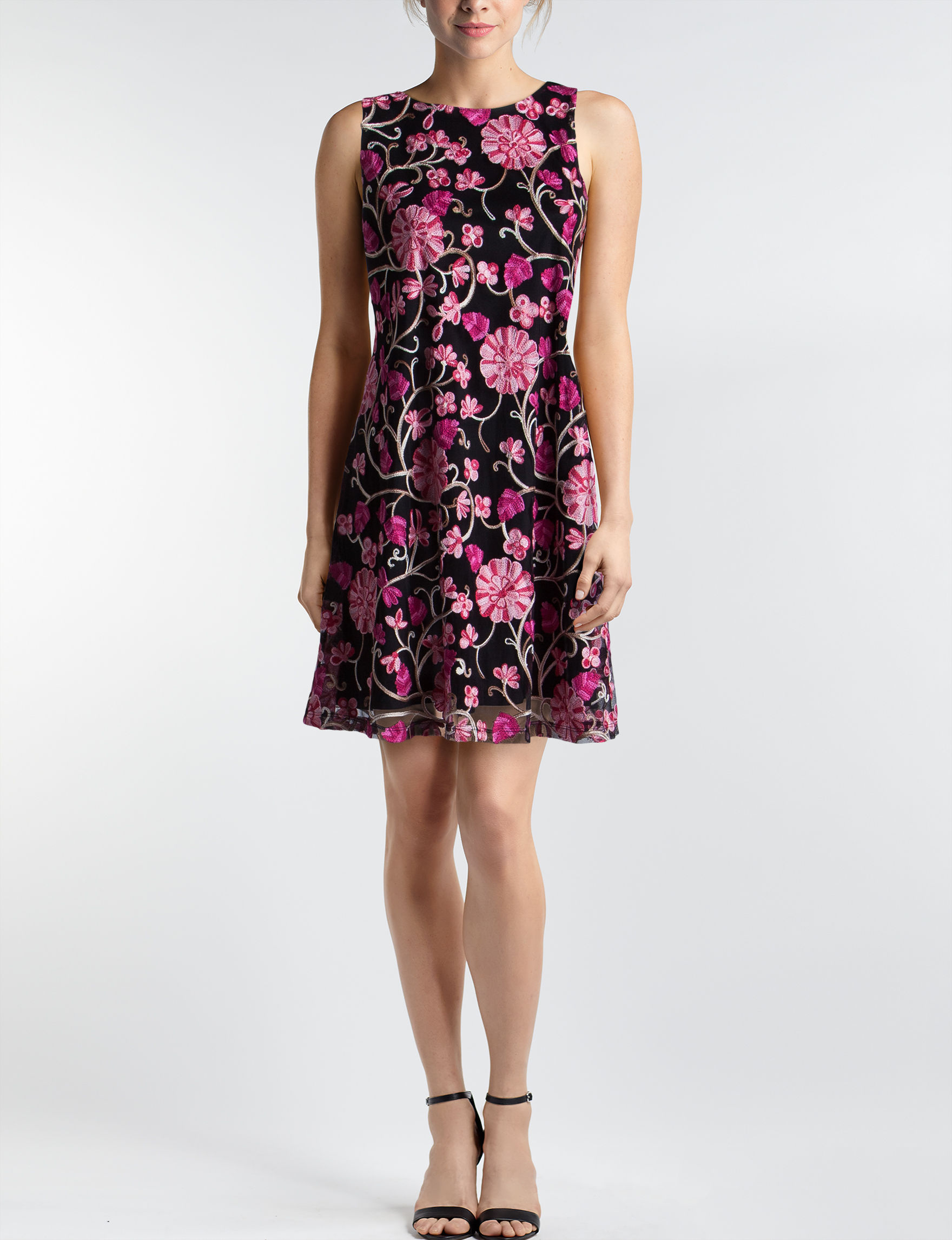 Ronni Nicole Black / Pink Everyday & Casual Shift Dresses