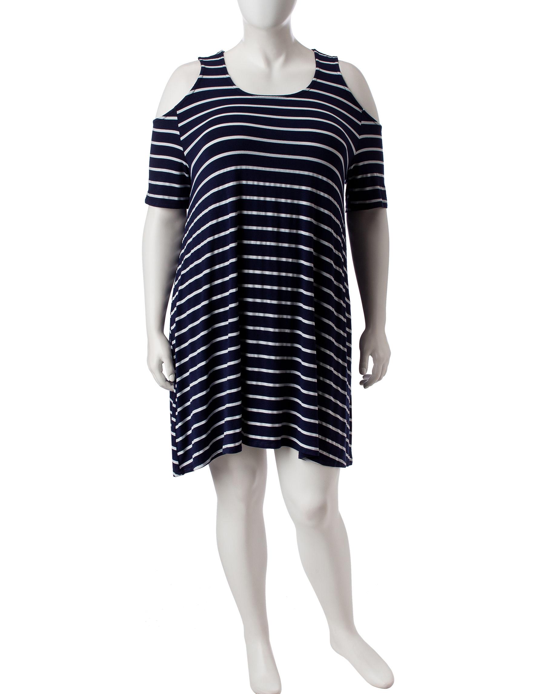 Liberty Love Navy Stripe Shift Dresses