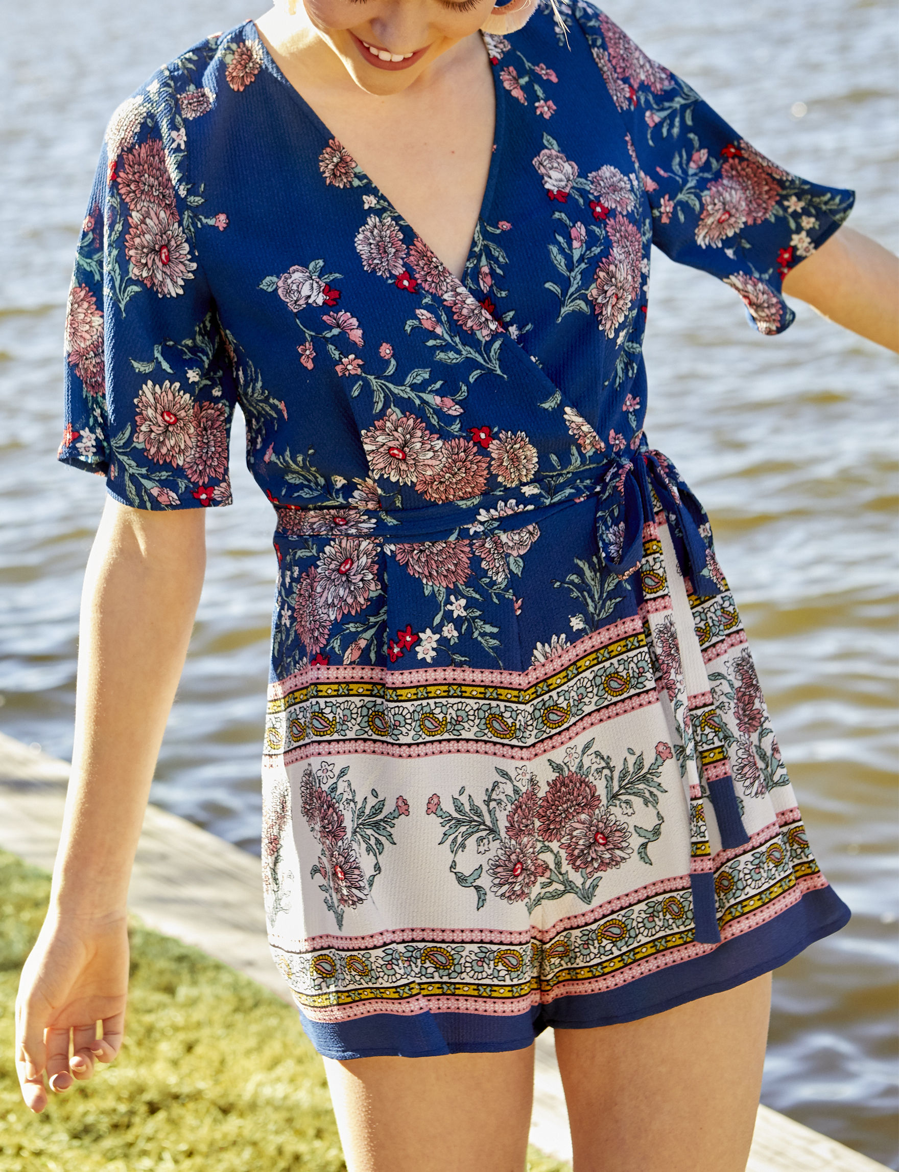 Trixxi Blue Floral Everyday & Casual