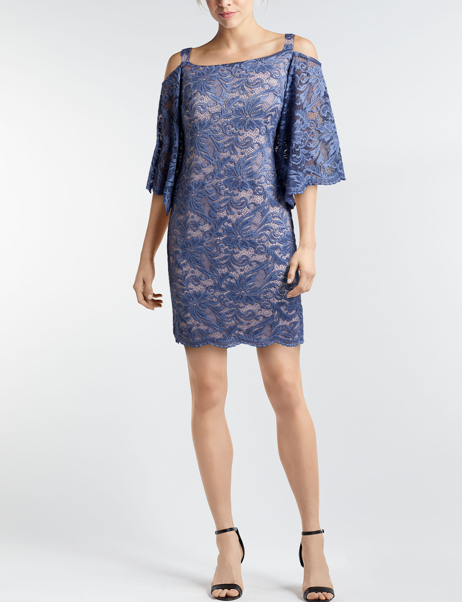 Robbie Bee Blue Shift Dresses