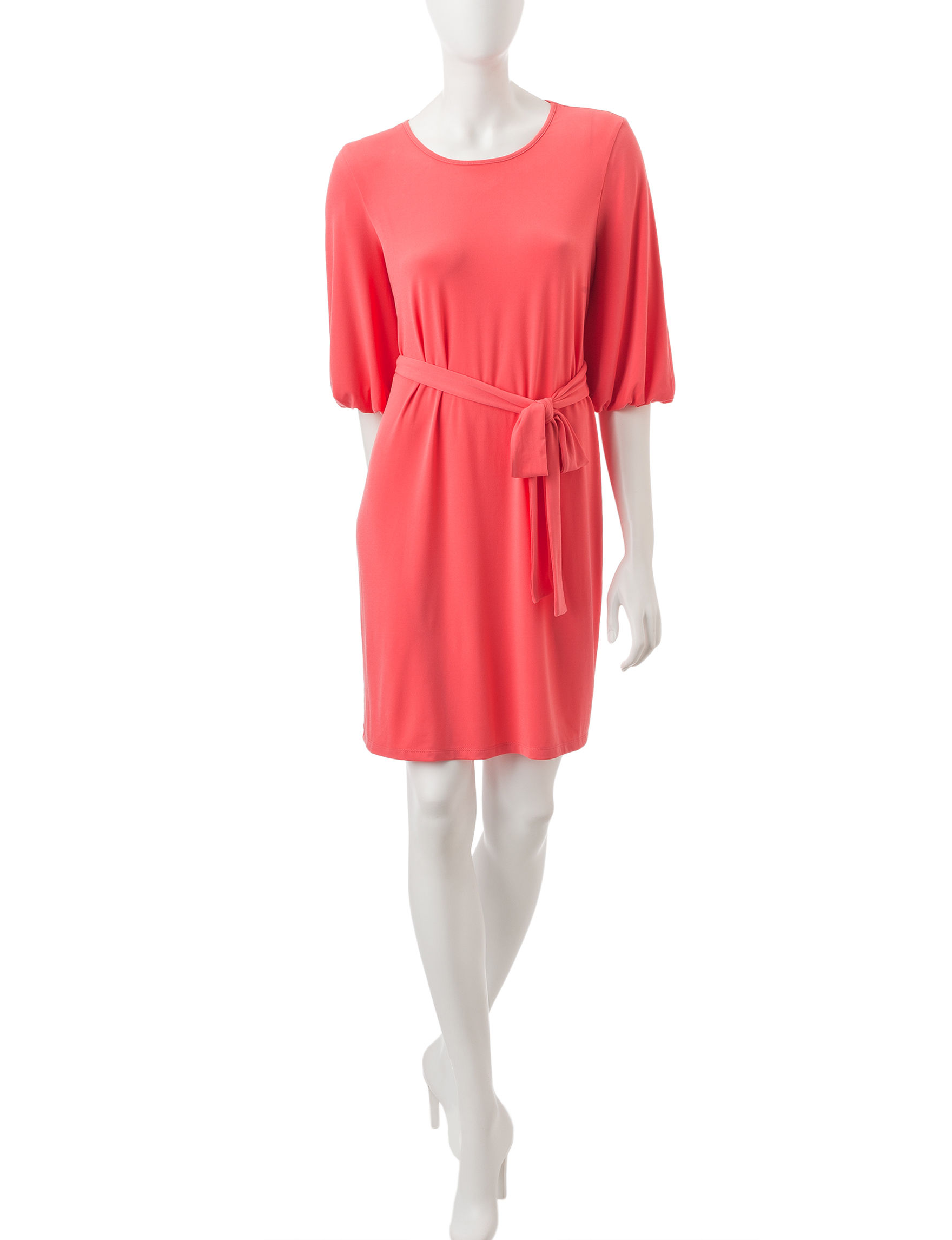 London Times Coral Everyday & Casual Shift Dresses