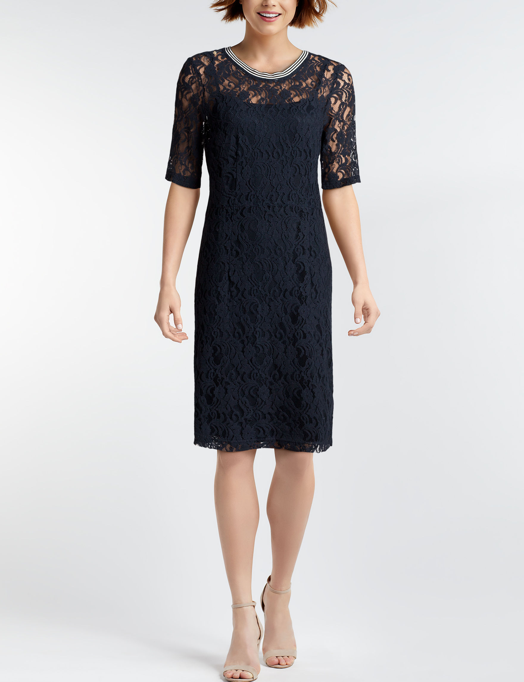 Hope & Harlow Navy Everyday & Casual Sheath Dresses