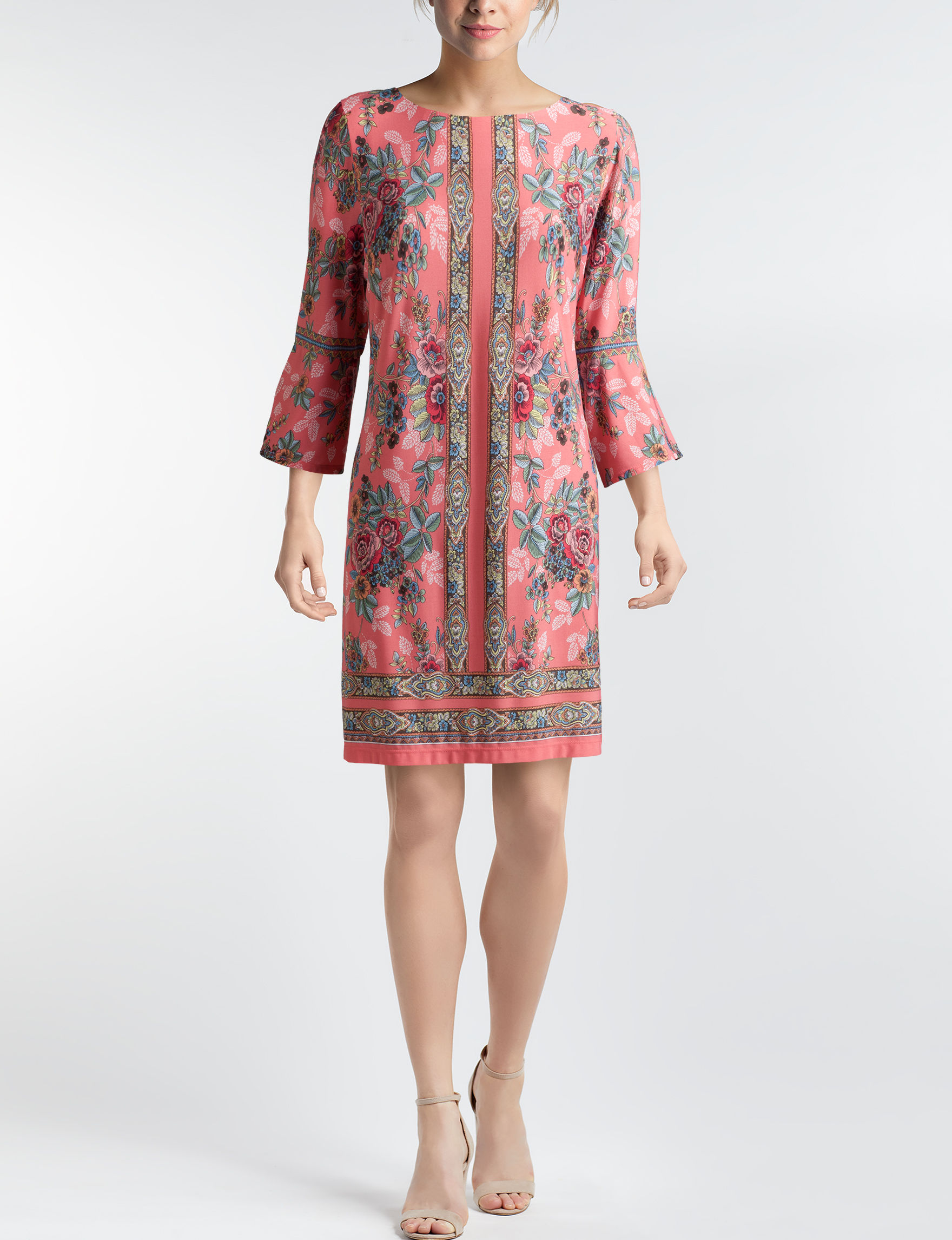 Sandra Darren Coral Everyday & Casual Shift Dresses