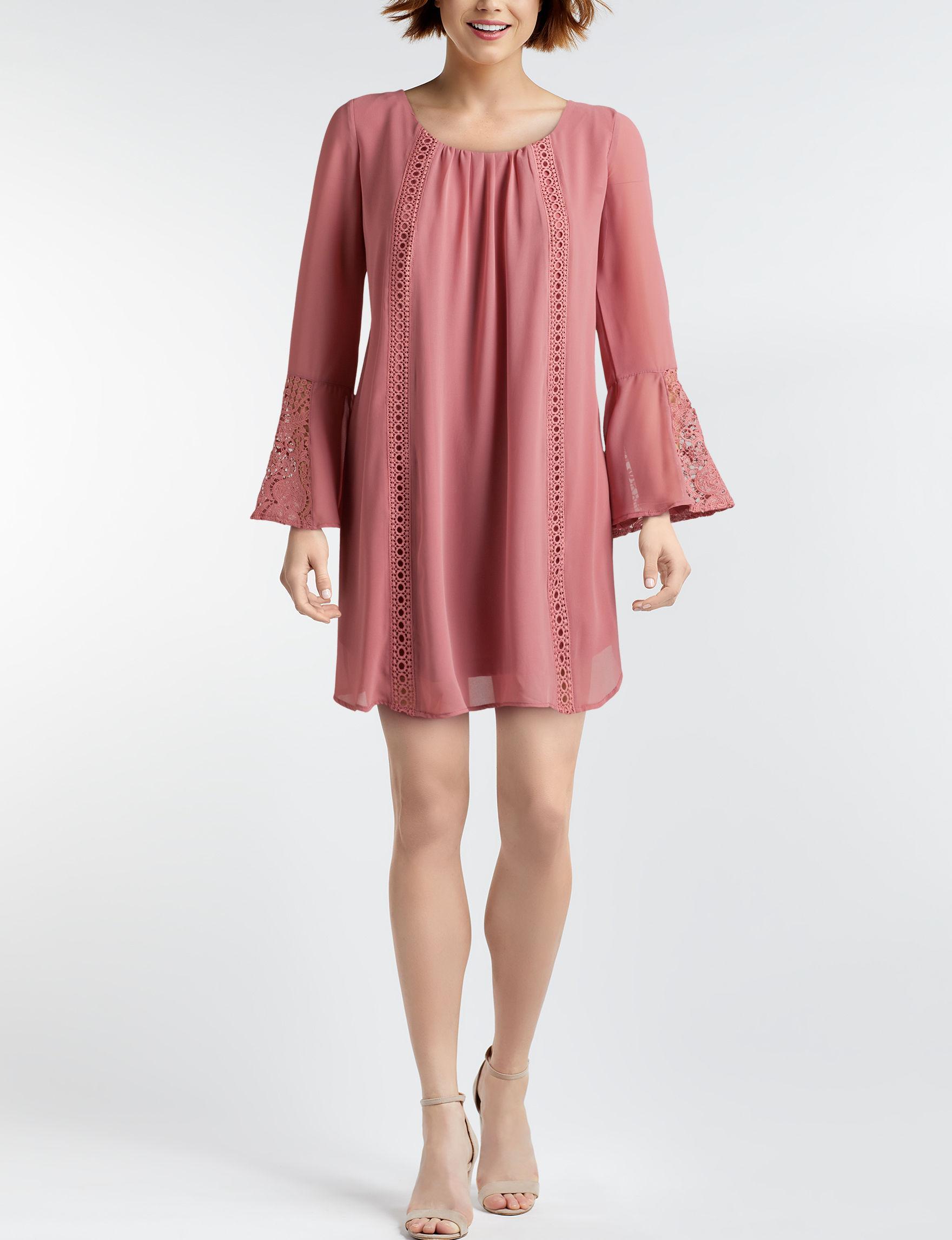 Sequin Hearts Mauve Everyday & Casual Shift Dresses