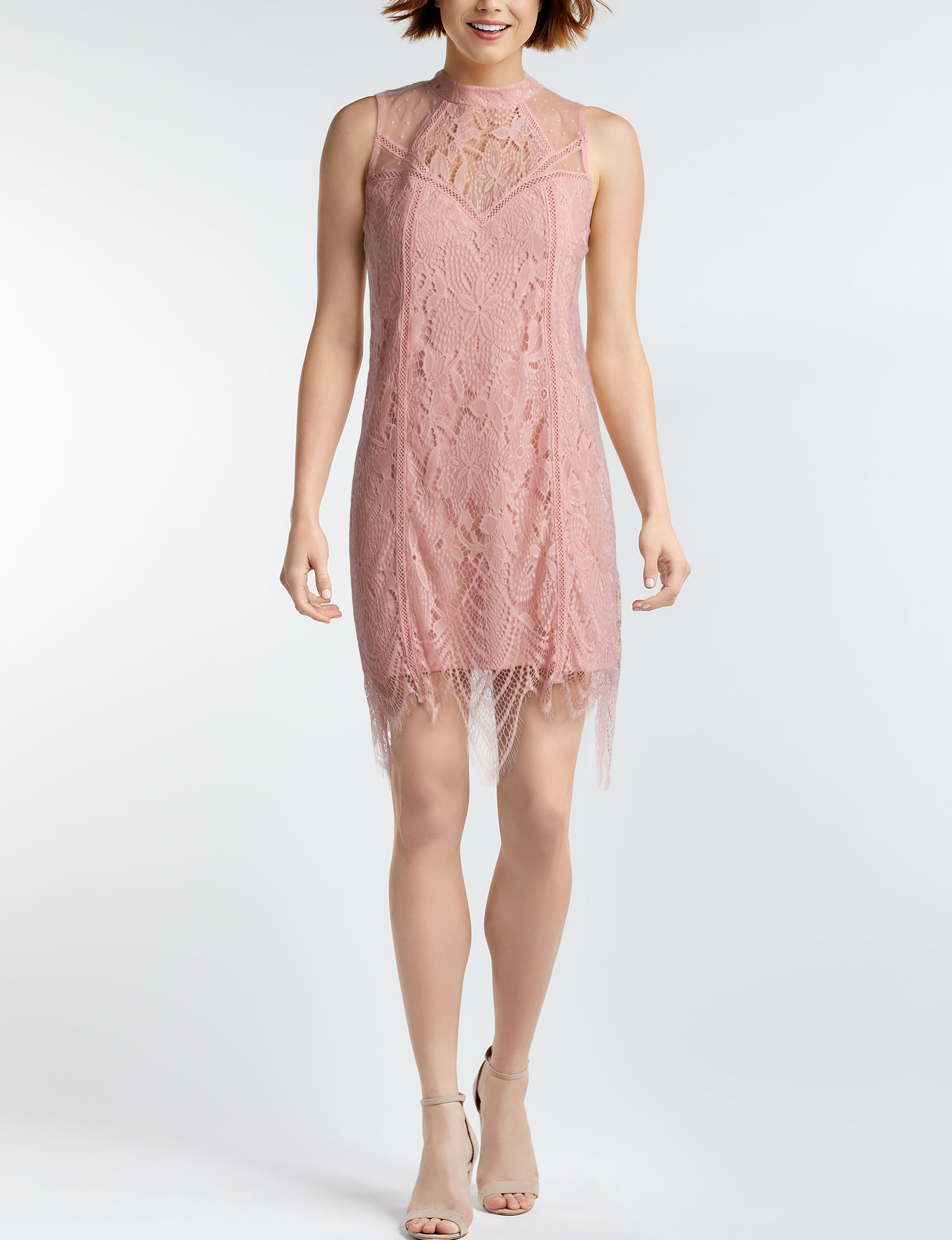 Love Fire Pink Cocktail & Party Everyday & Casual Shift Dresses