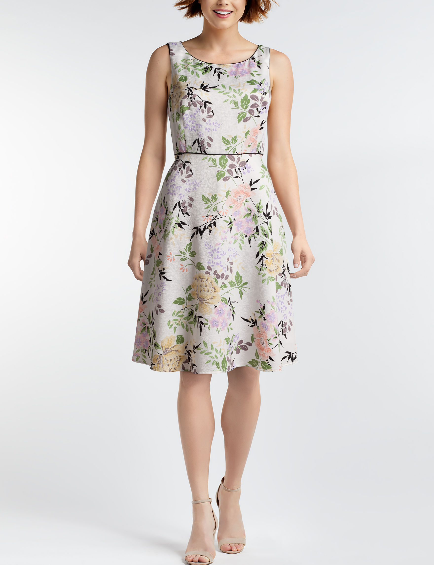 Nine West White Floral Everyday & Casual A-line Dresses