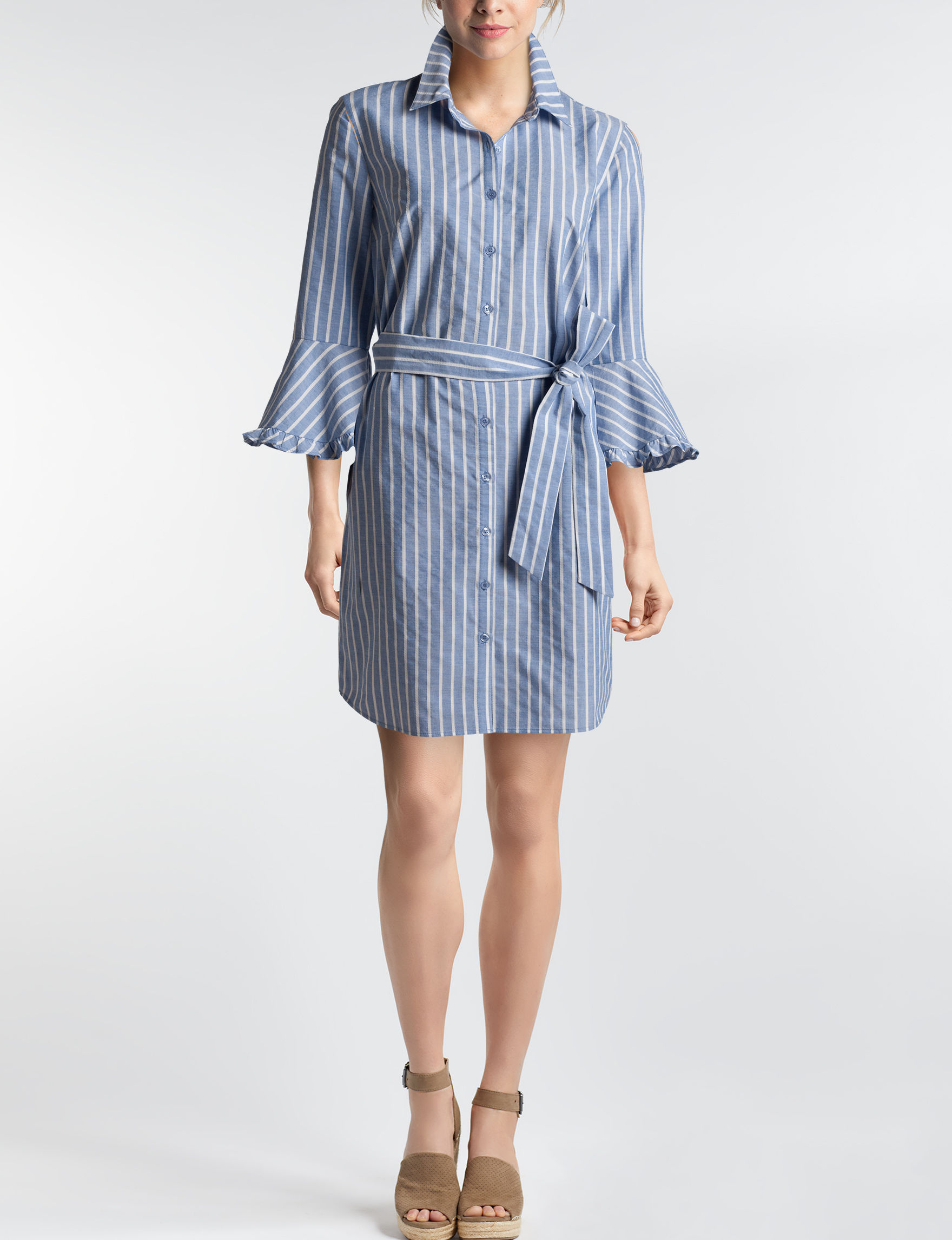 Beige by ECI Blue Everyday & Casual Shirt Dresses
