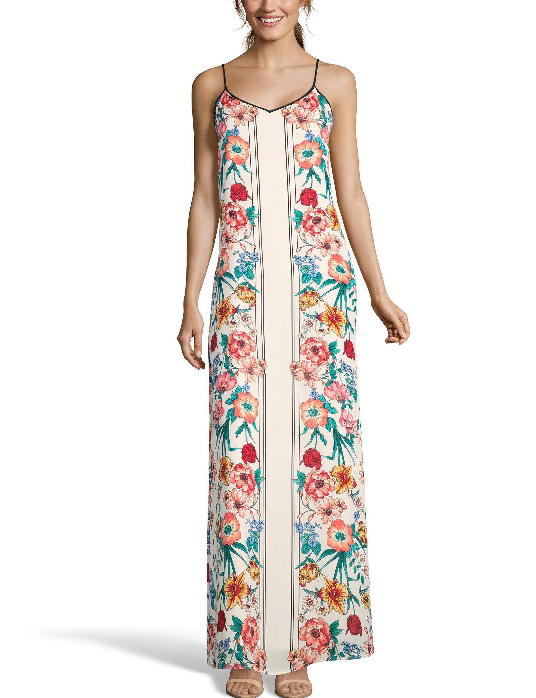 Nicole Miller Ivory Floral Everyday & Casual