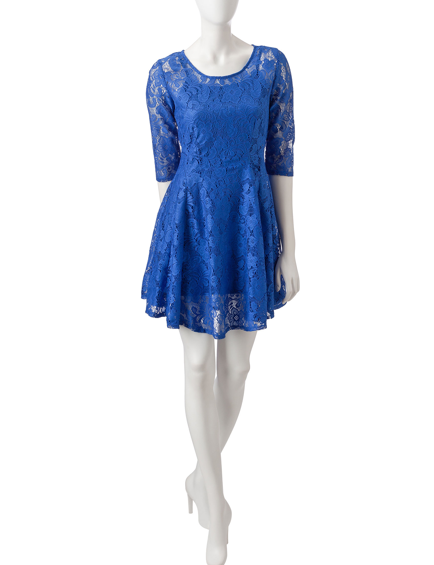 BeBop Cobalt Blue Everyday & Casual Fit & Flare Dresses