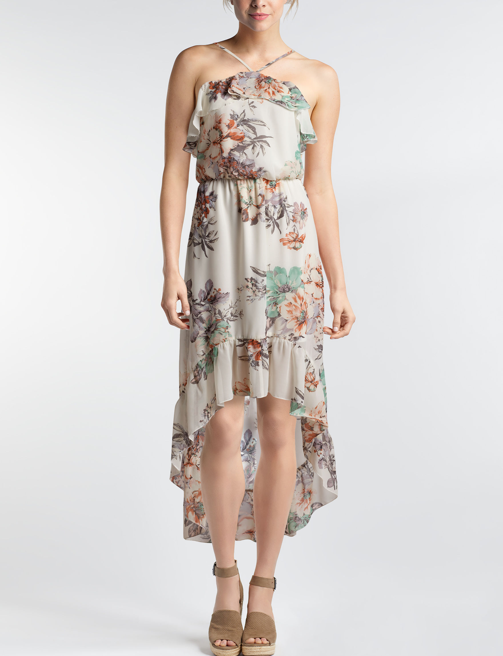 Bailey Blue Ivory Floral Everyday & Casual Sundresses