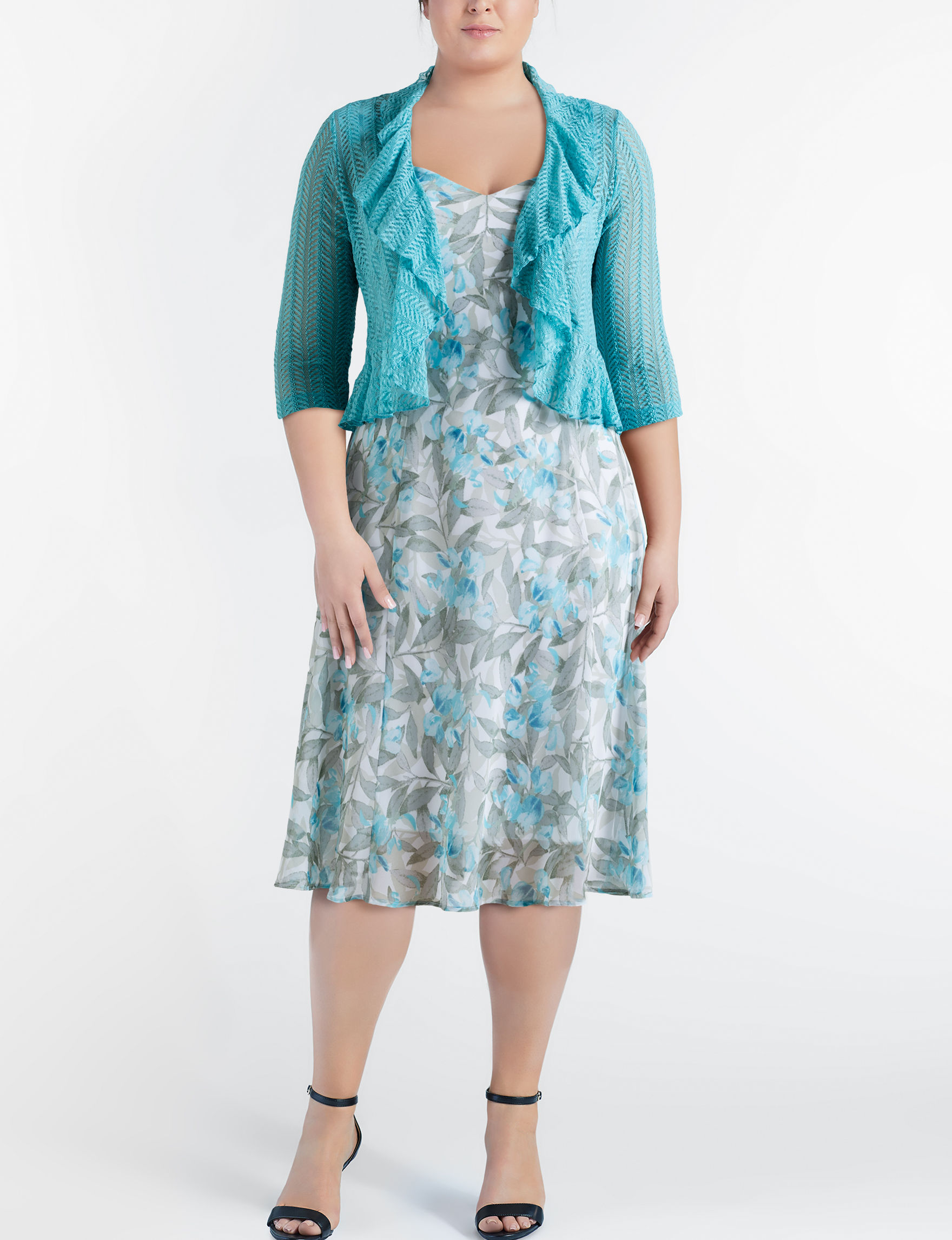 Connected Seafoam Everyday & Casual Jacket Dresses