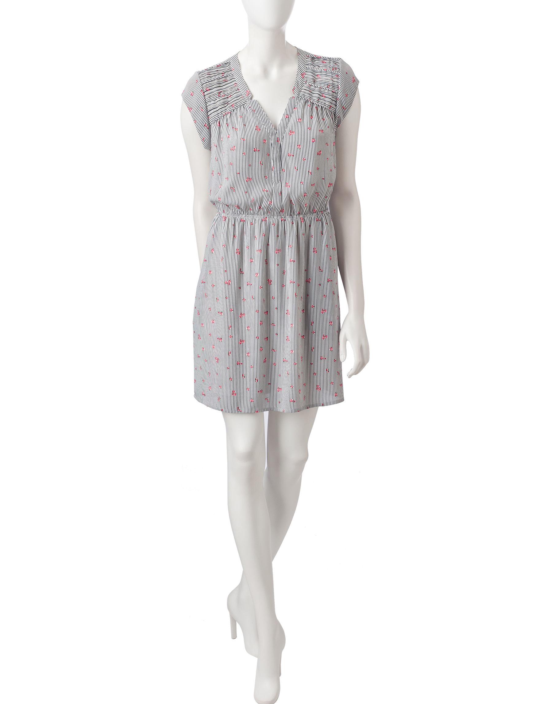 Signature Studio Stripe / Floral Everyday & Casual Shirt Dresses