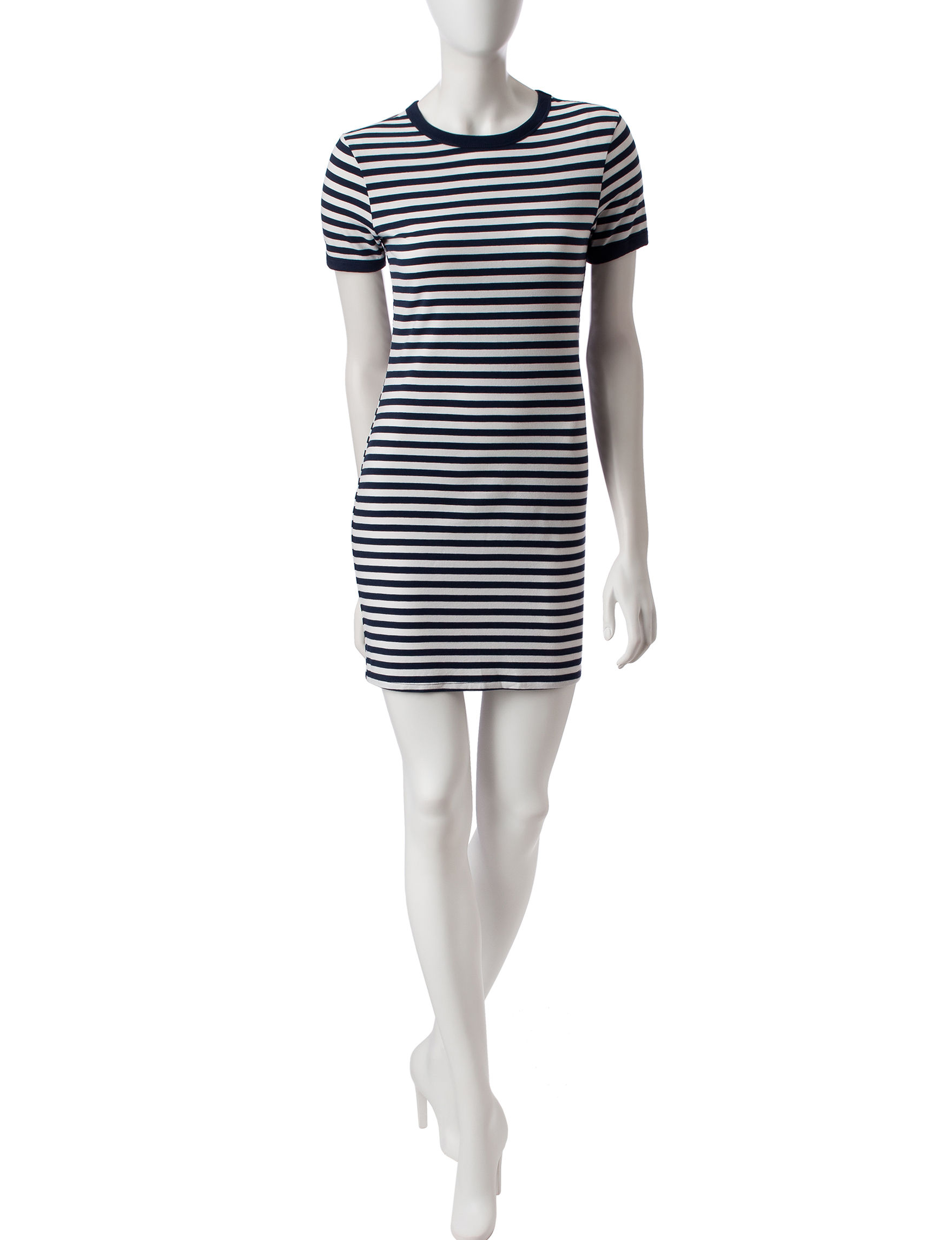 Wishful Park Navy Stripe Everyday & Casual Shirt Dresses