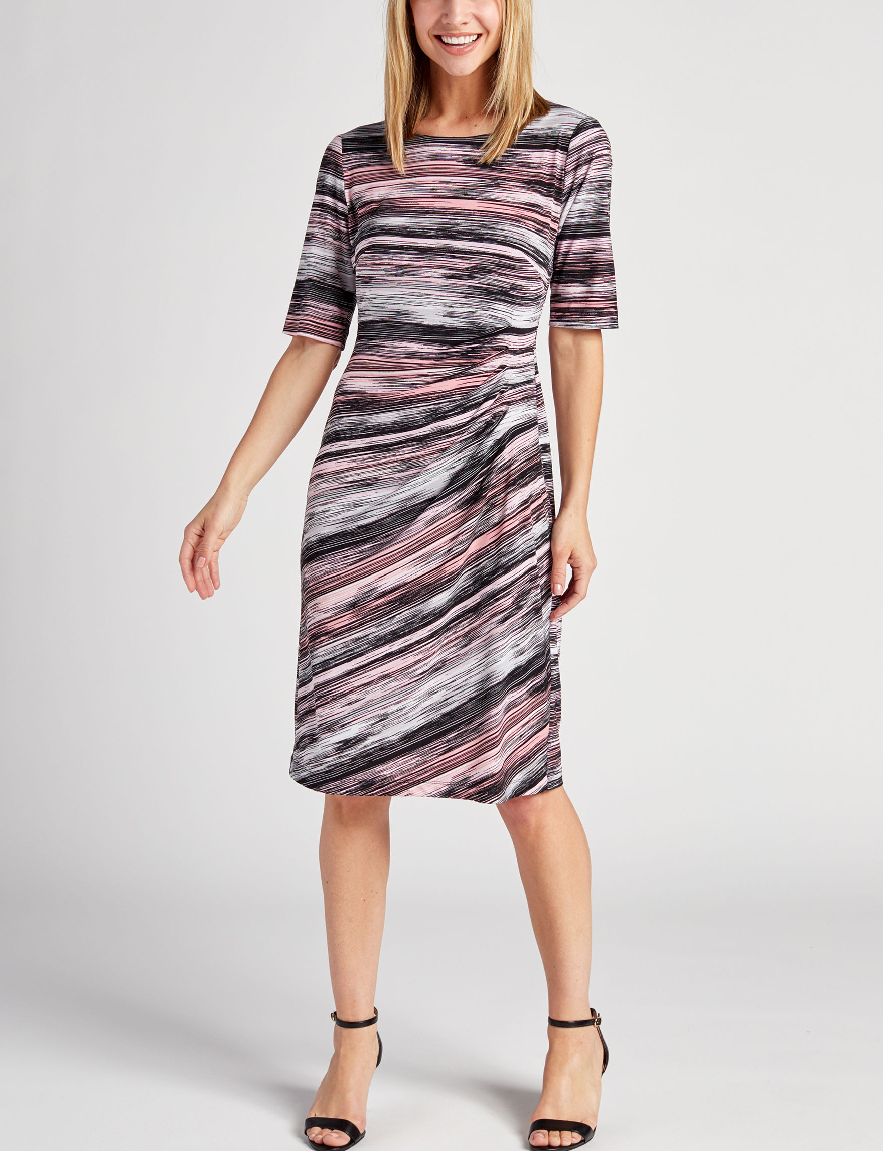 Connected Black Multi Everyday & Casual Sheath Dresses