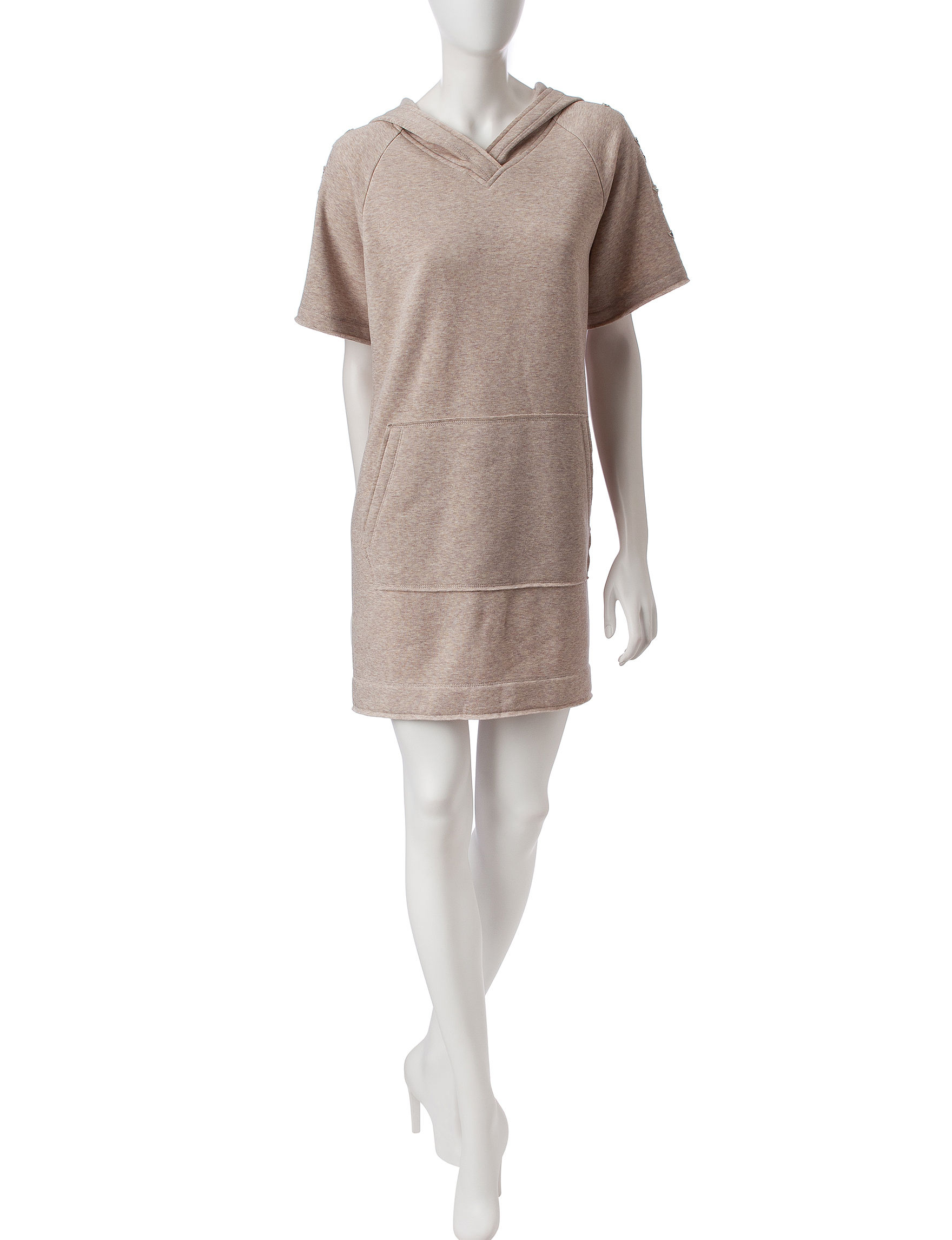 Nic Nation Beige Everyday & Casual Sweater Dresses