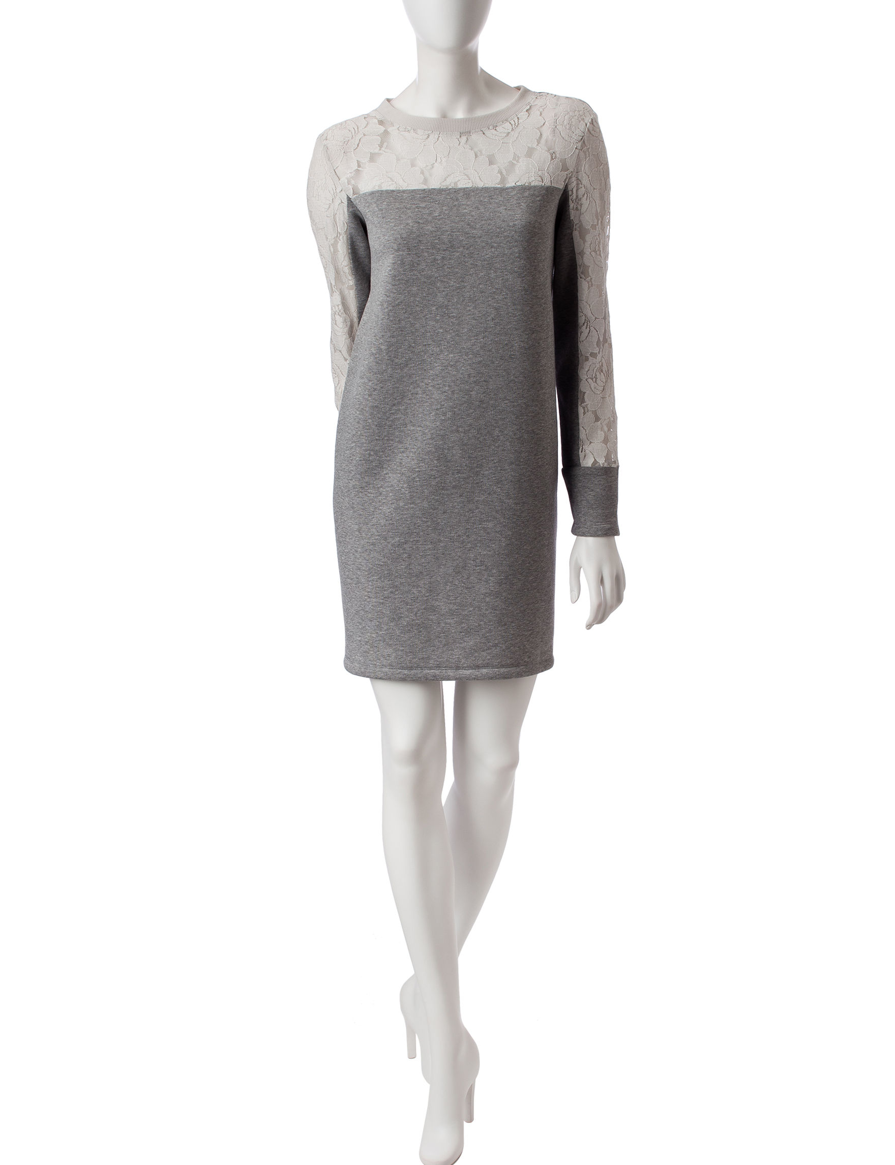 Nic Nation Dark Grey Everyday & Casual Sweater Dresses