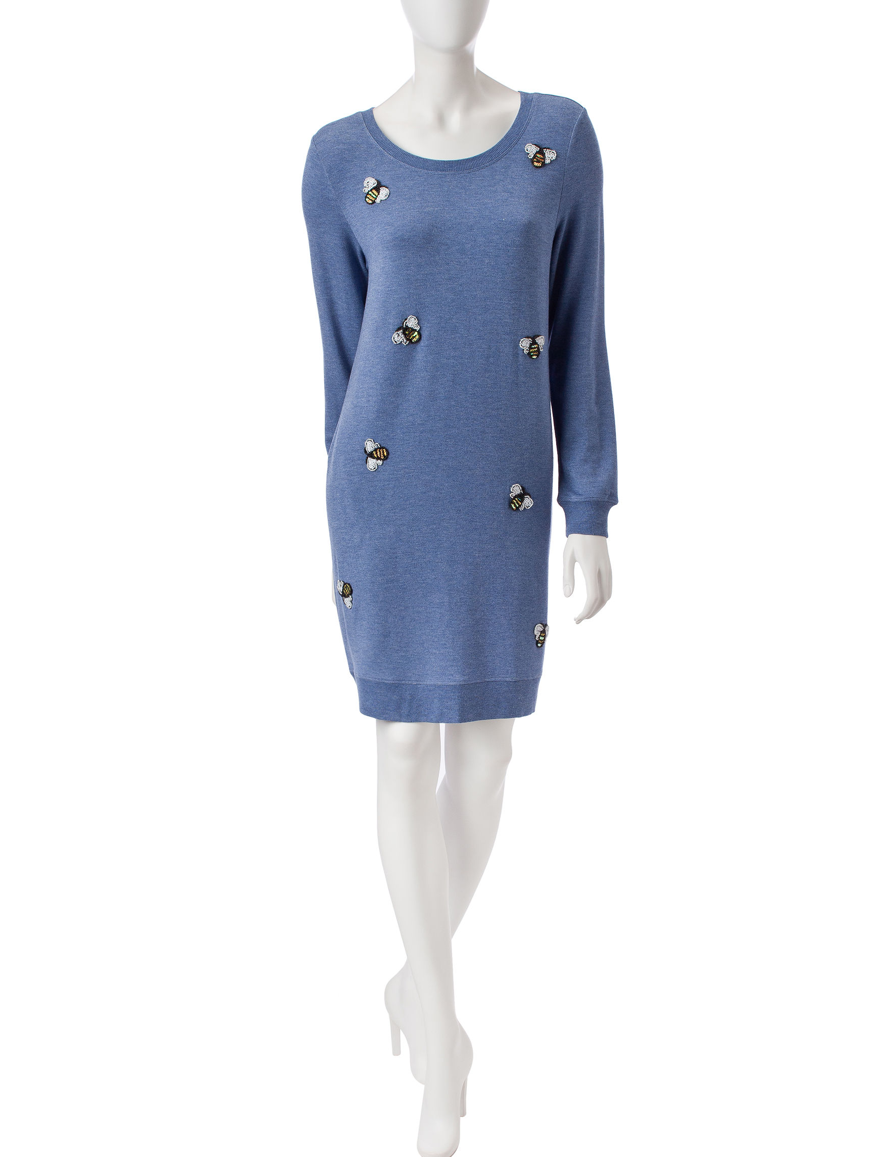 Nic Nation Blue Everyday & Casual Sweater Dresses