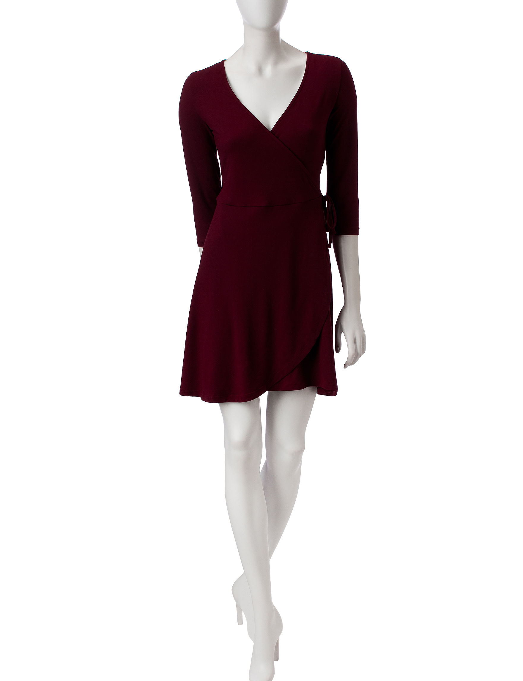 Wishful Park Burgundy Everyday & Casual Fit & Flare Dresses