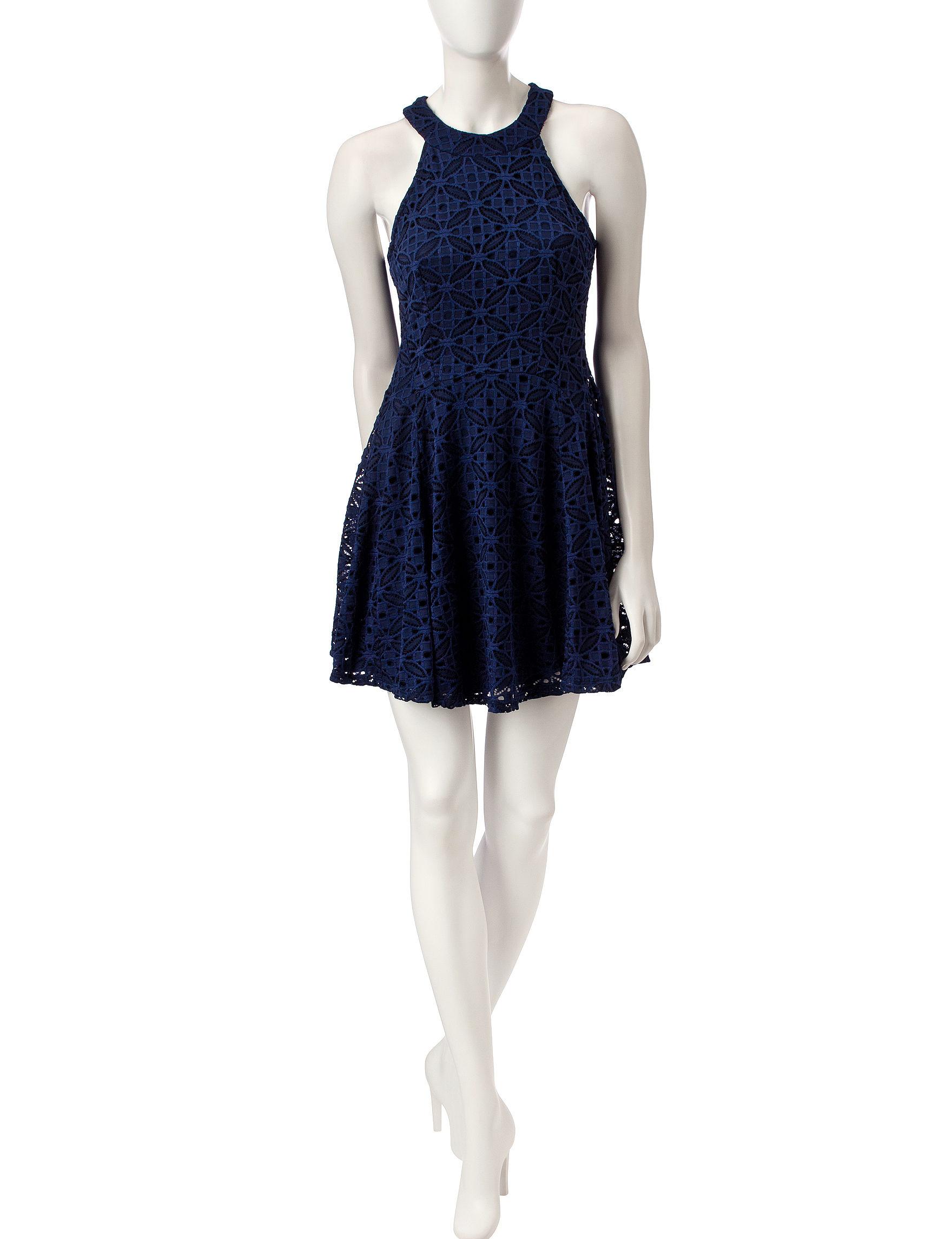 BeBop Navy Evening & Formal Everyday & Casual Fit & Flare Dresses