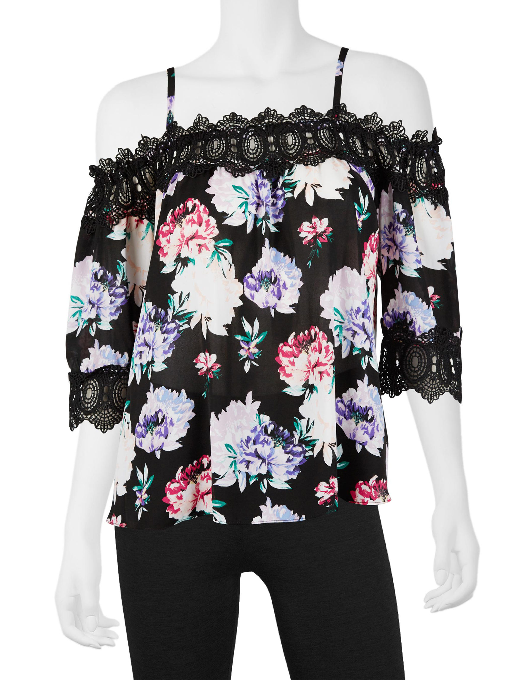 A. Byer Floral Shirts & Blouses