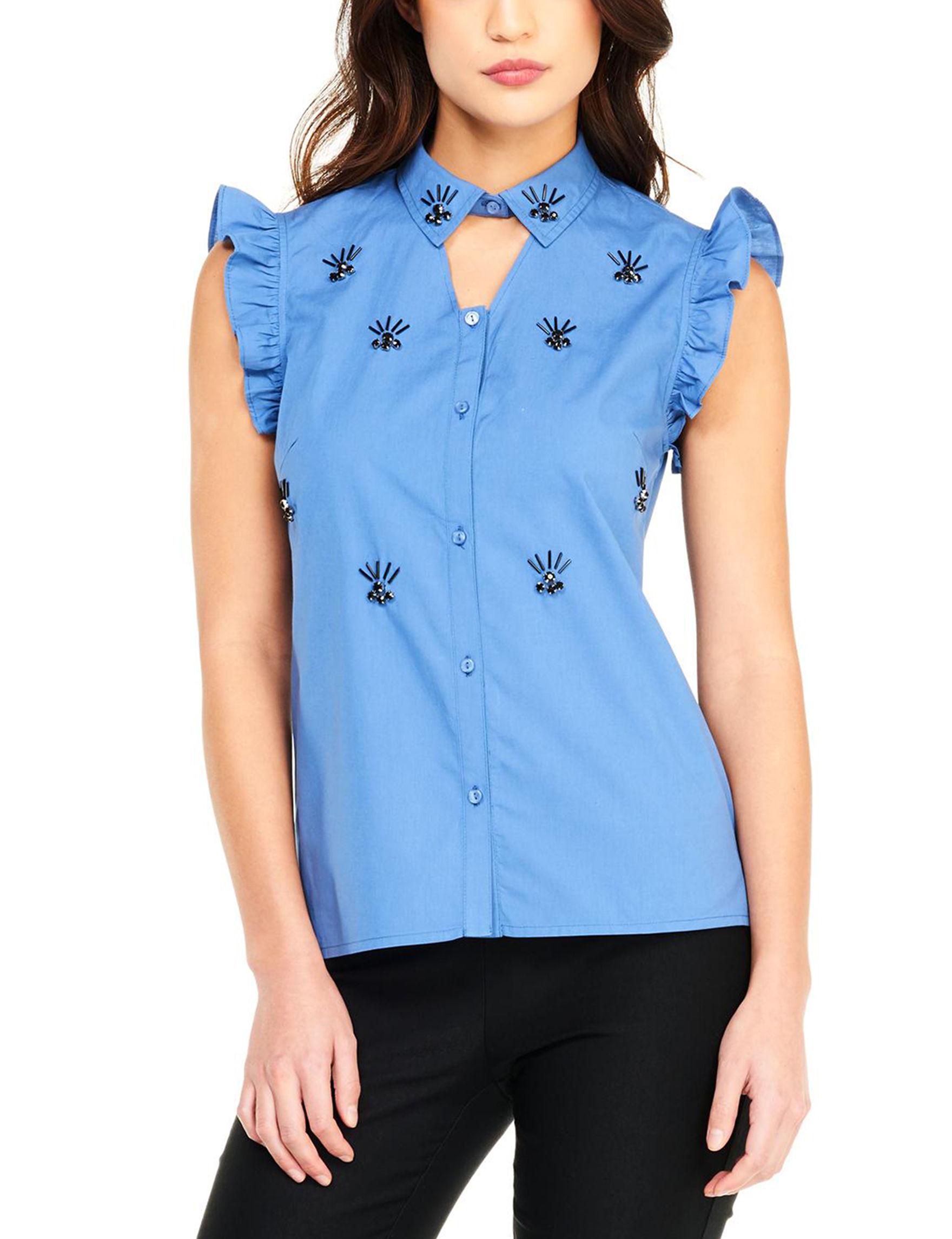 XOXO Blue Shirts & Blouses